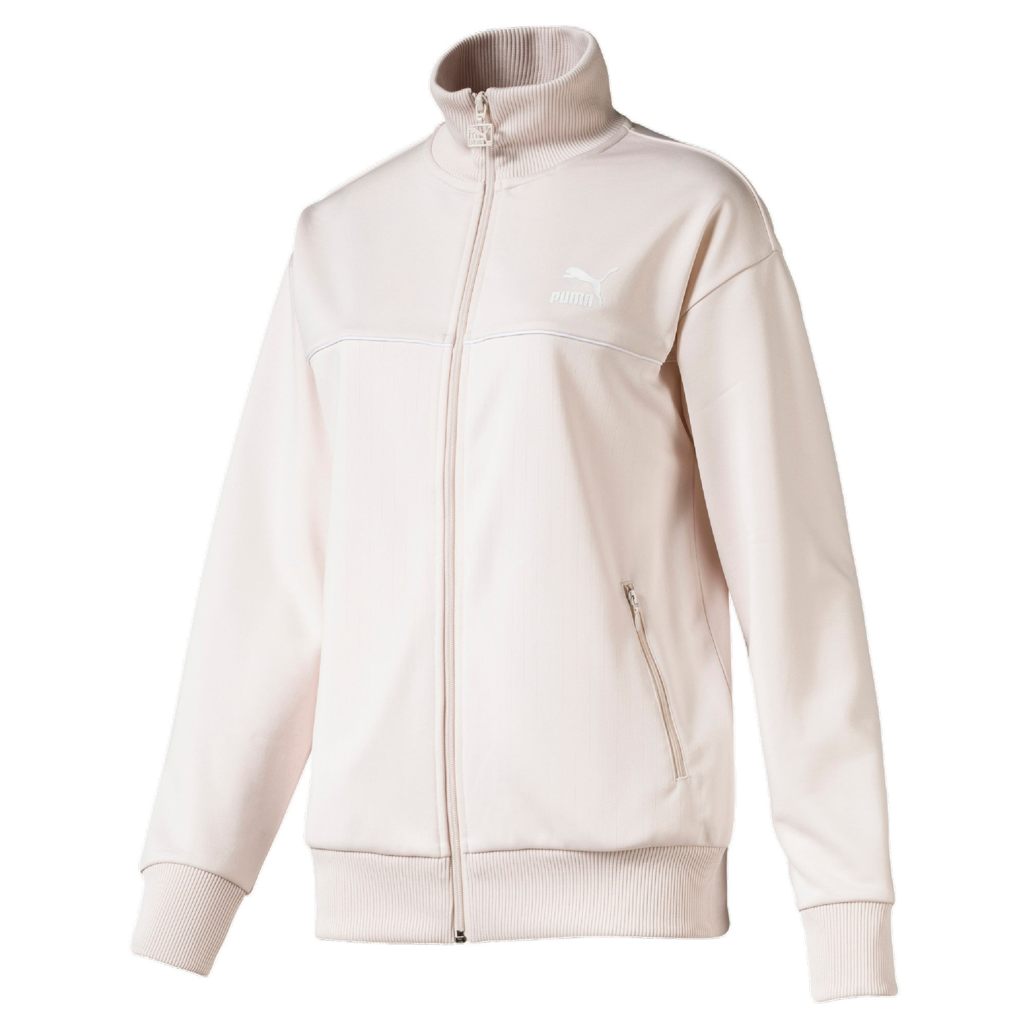 Thumbnail 4 of Classics Poly Women's Track Jacket, Pastel Parchment, medium