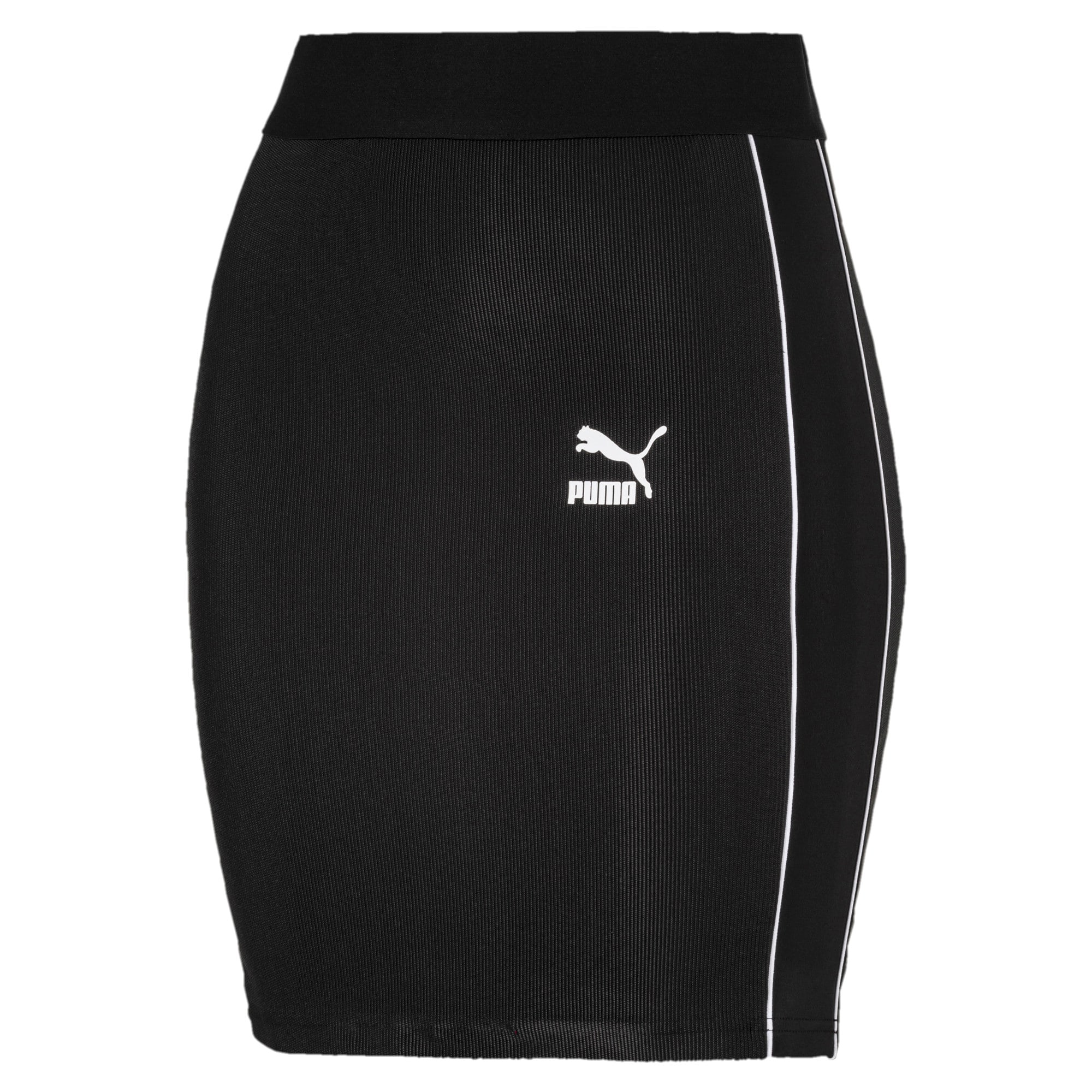 Thumbnail 4 of Classics Rib Women's Skirt, Puma Black, medium