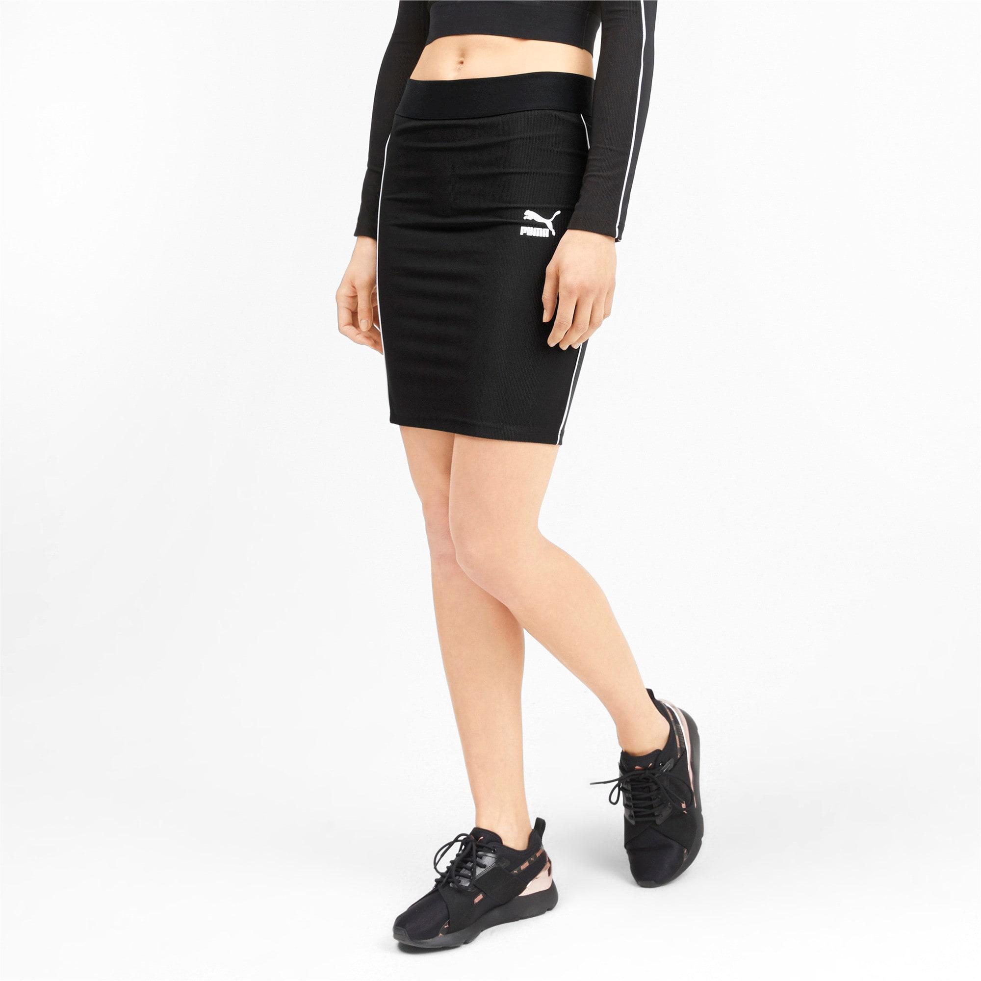 Miniatura 1 de Falda Classicscon cordoncillo para mujer, Puma Black, mediano
