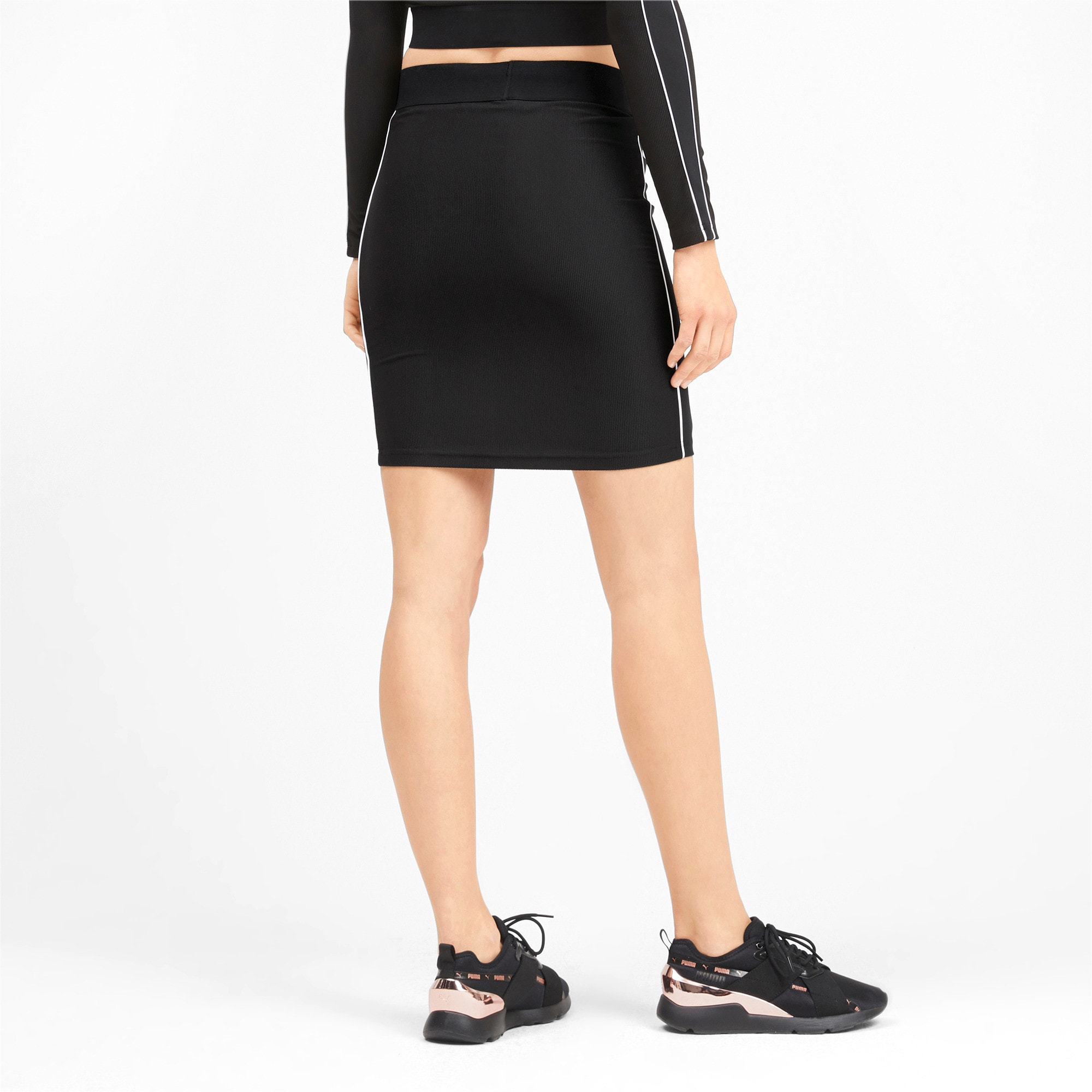Thumbnail 2 of Classics Rib Women's Skirt, Puma Black, medium