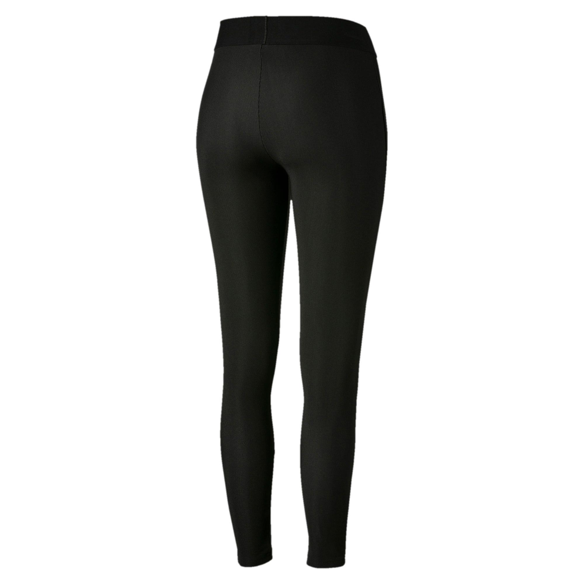 Thumbnail 5 of Classics Rib Women's Leggings, Puma Black, medium
