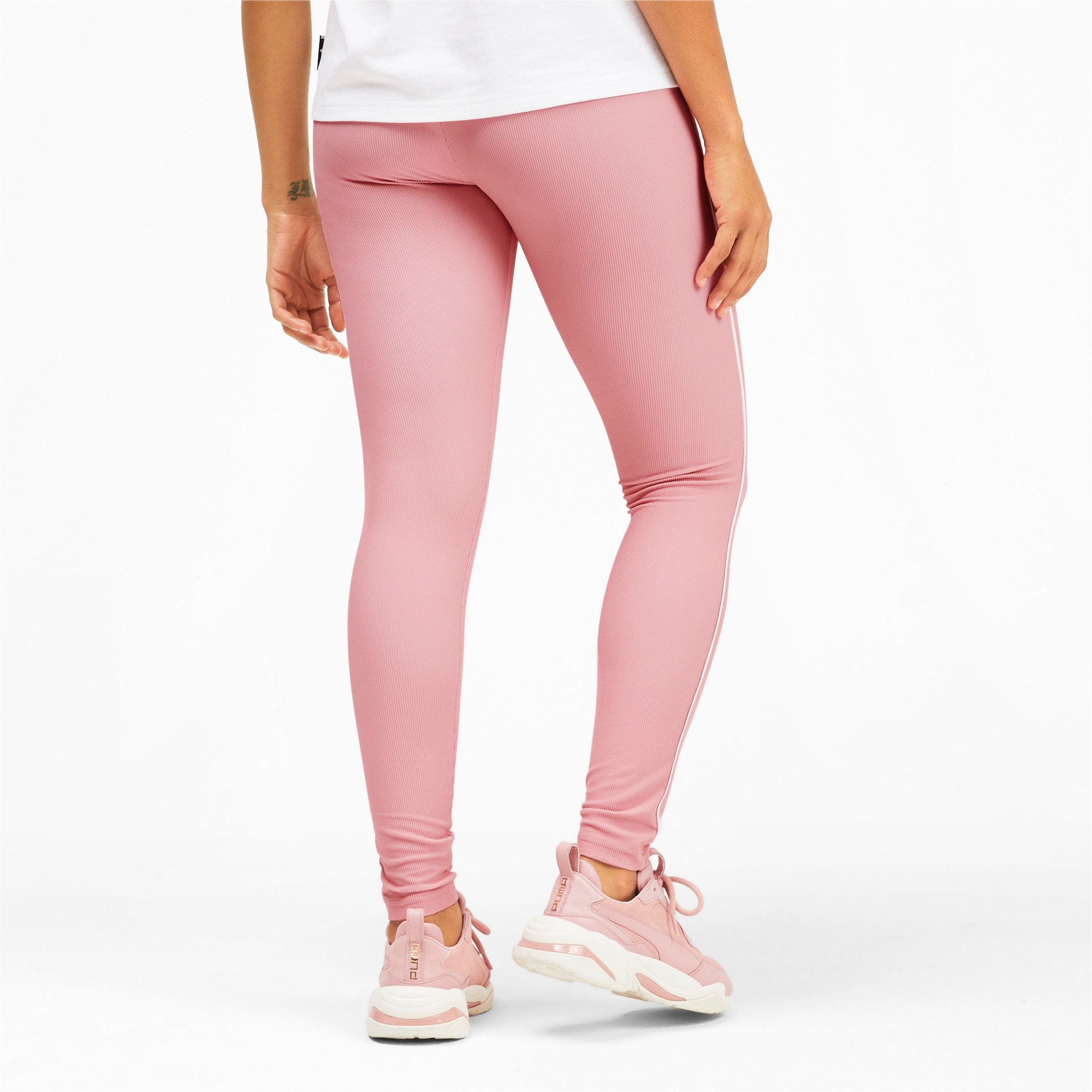 Thumbnail 3 of Classics Rib Women's Leggings, Bridal Rose, medium