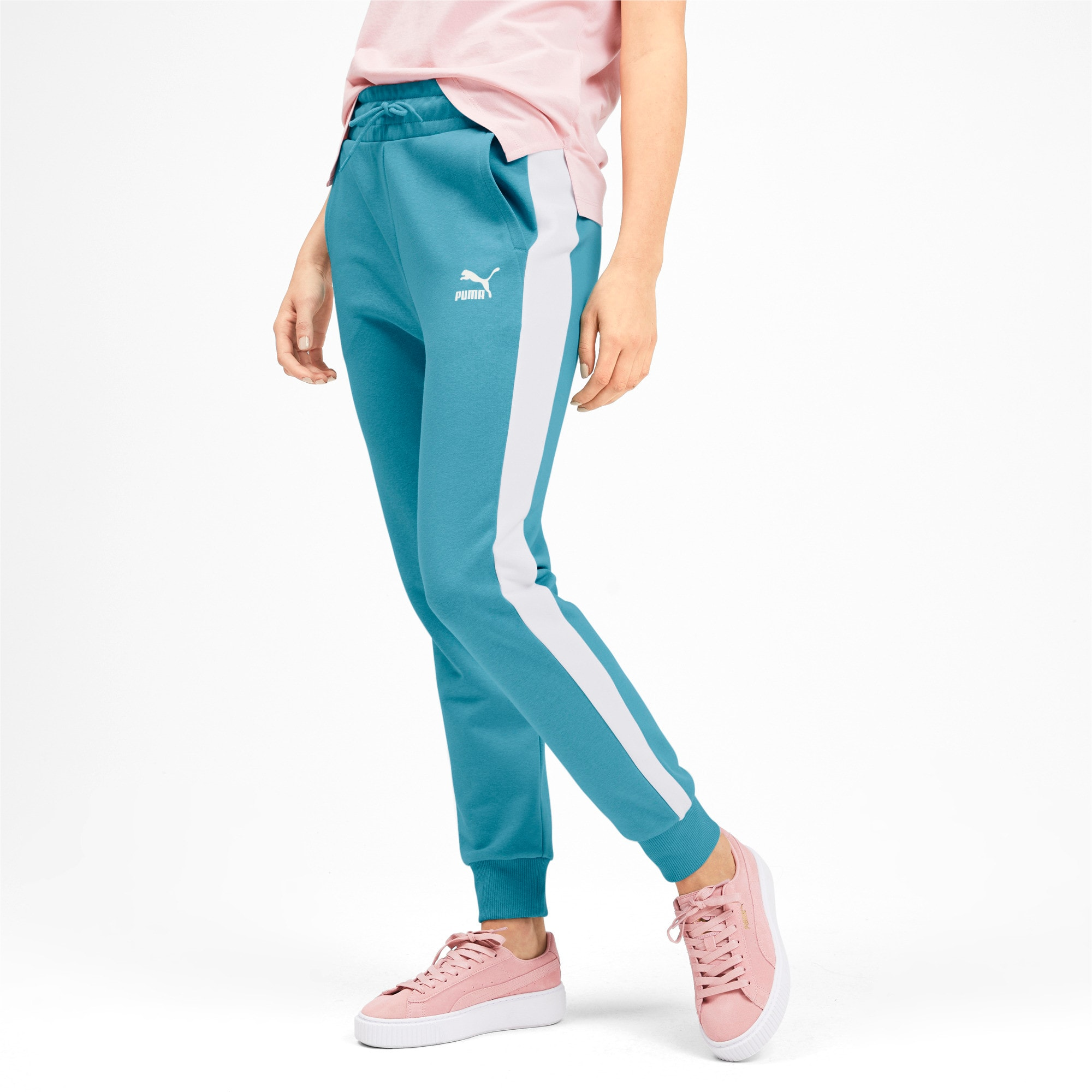 Thumbnail 2 of Classics T7 Knitted Women's Track Pants, Milky Blue, medium