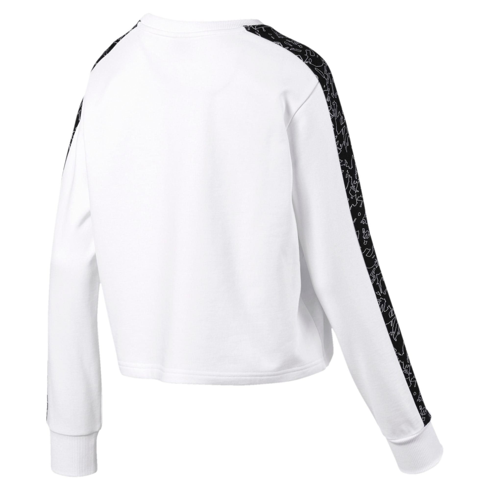Thumbnail 5 of Classics Women's AOP Logo Crewneck Sweatshirt, Puma White, medium