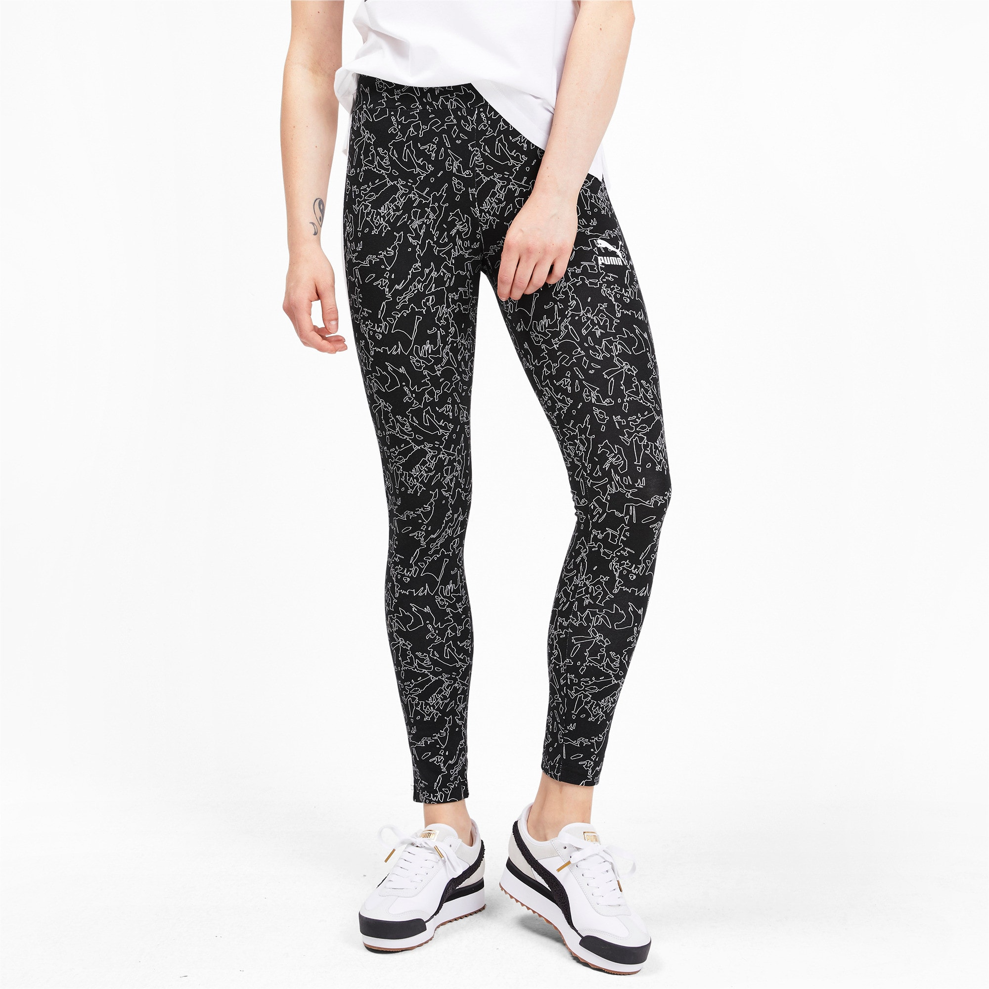 Thumbnail 1 of Classics T7 Women's Leggings, Puma Black, medium