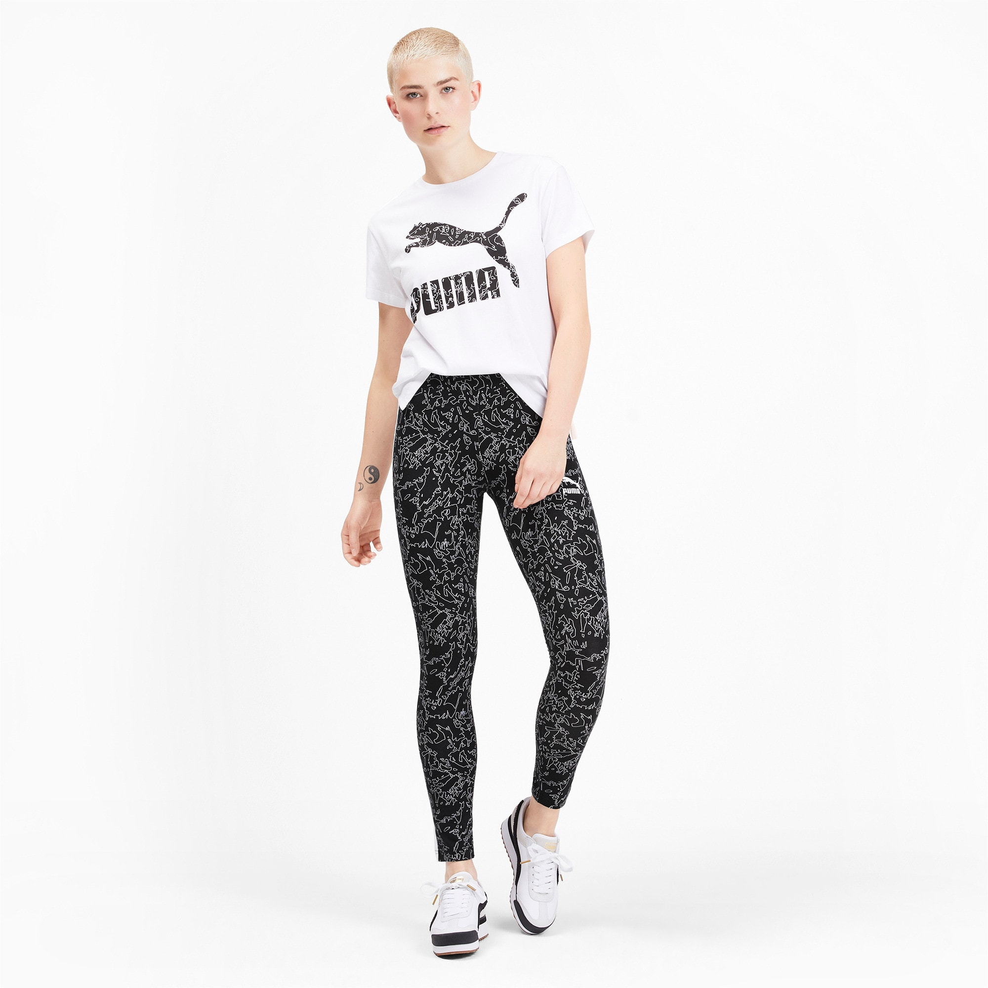 Thumbnail 3 of Classics T7 Women's Leggings, Puma Black, medium