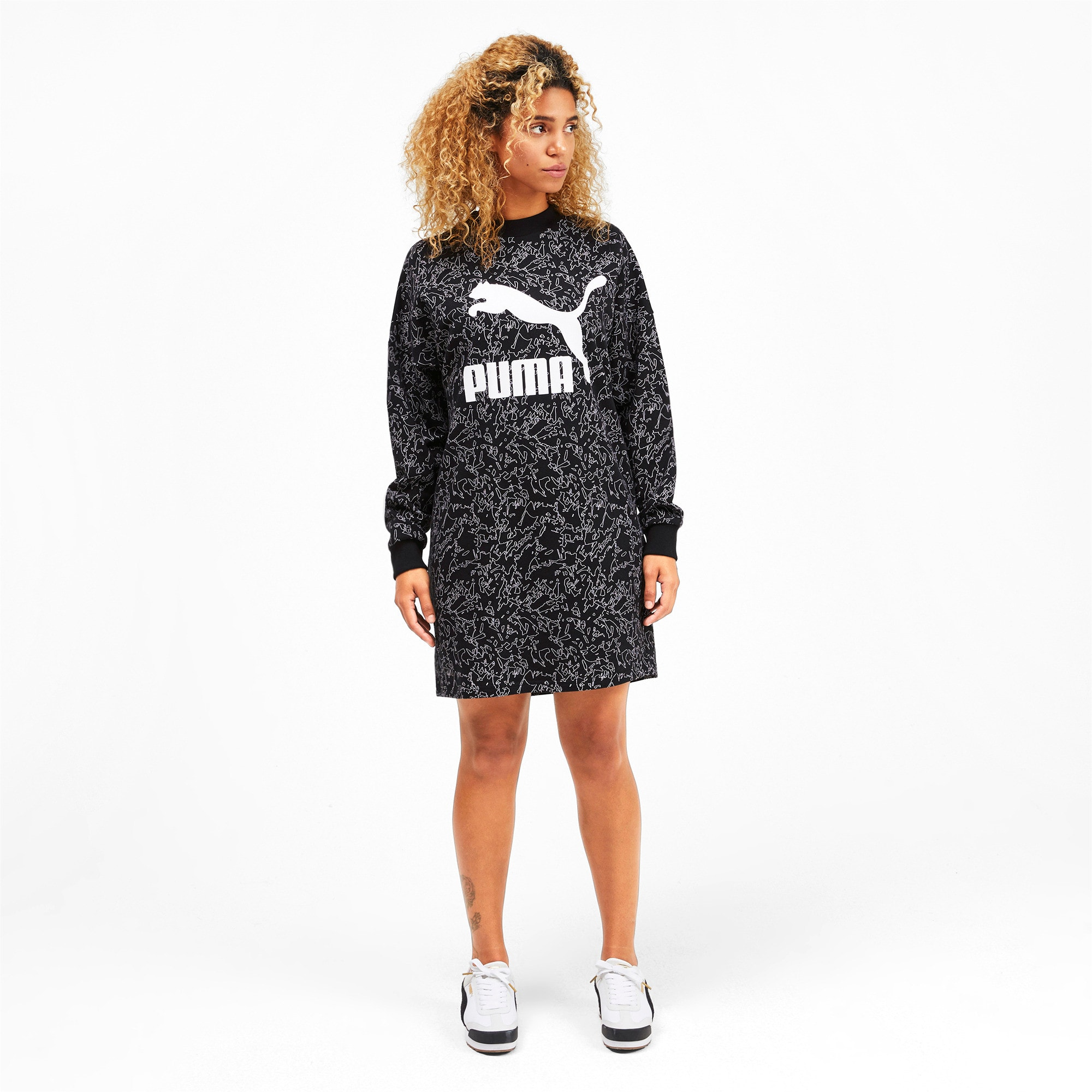 Thumbnail 4 of Classics All-Over Printed Women's Dress, Puma Black, medium
