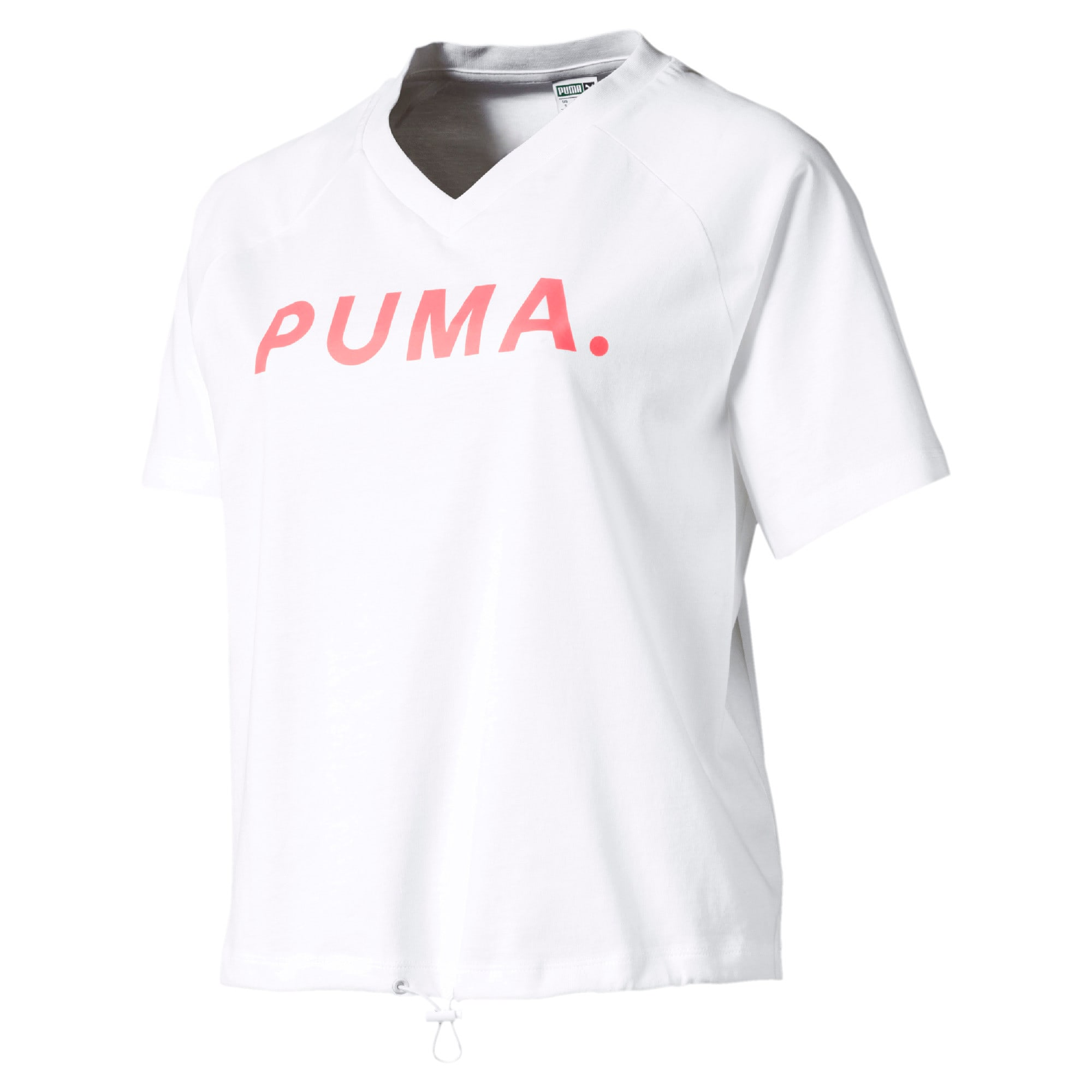Thumbnail 1 of Chase Women's V-Neck Tee, Puma White, medium