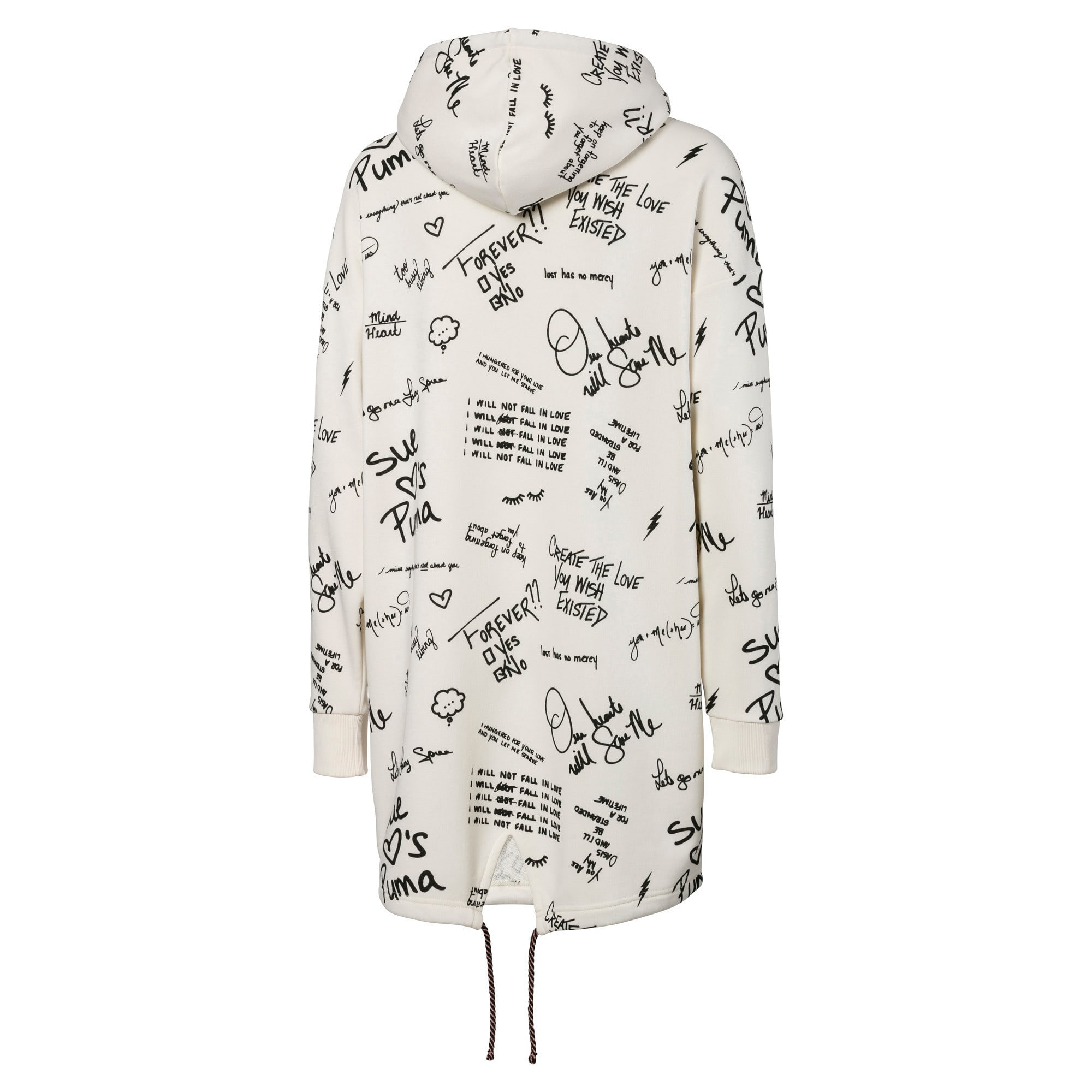 Thumbnail 2 of PUMA x SUE TSAI Women's AOP Hooded Dress, Whisper White, medium