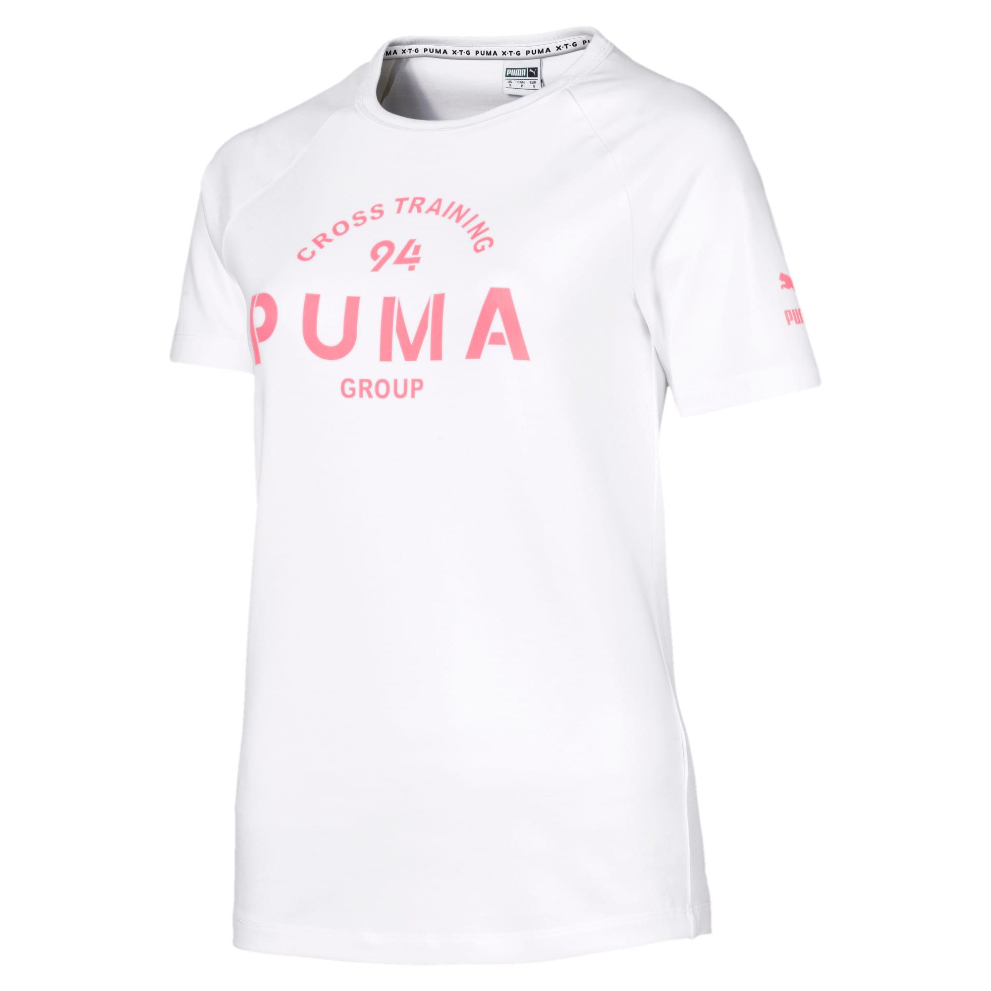 Thumbnail 4 of PUMA XTG Women's Graphic Top, Puma White, medium