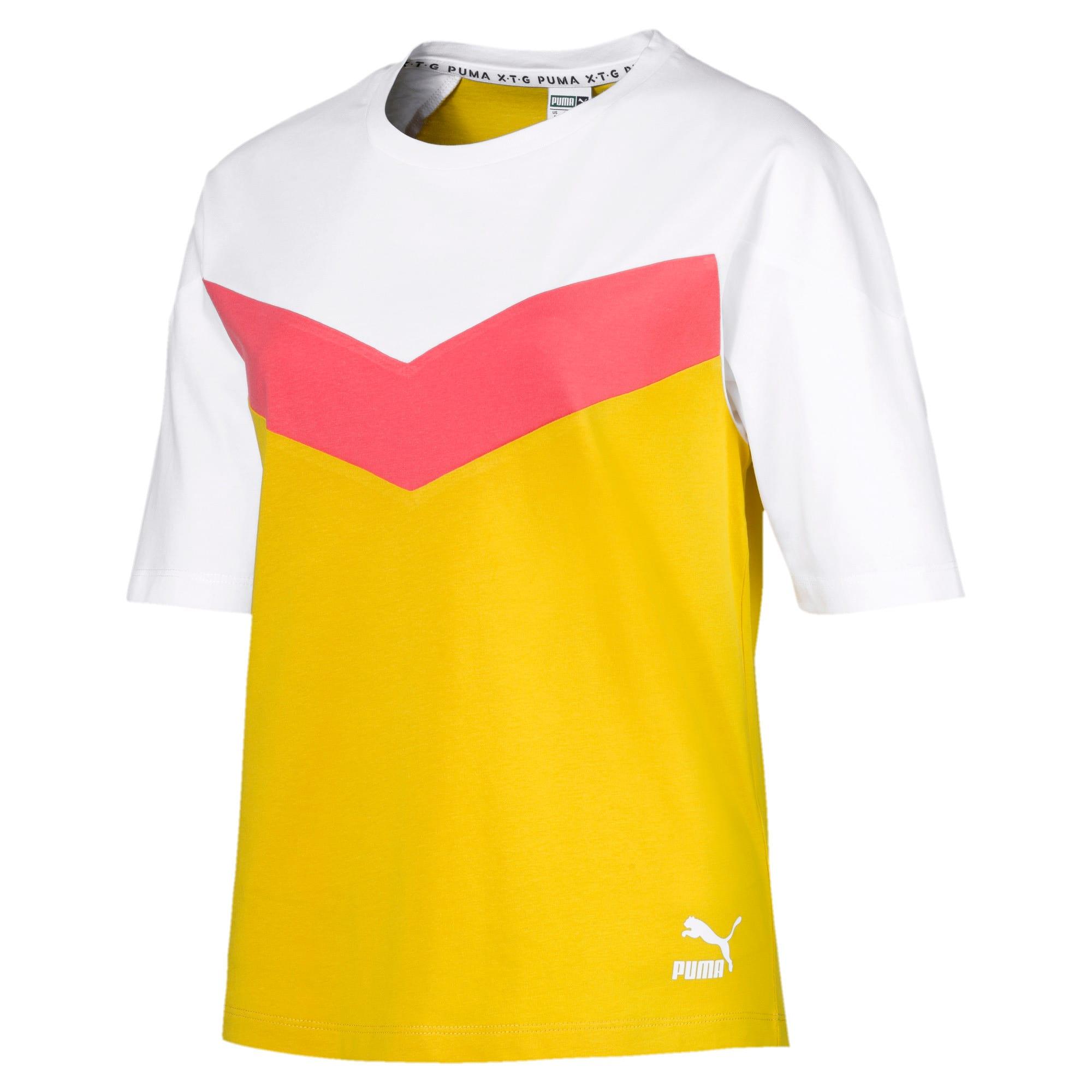 Miniatura 1 de Camiseta PUMA XTG en colores combinados para mujer, Sulphur, mediano