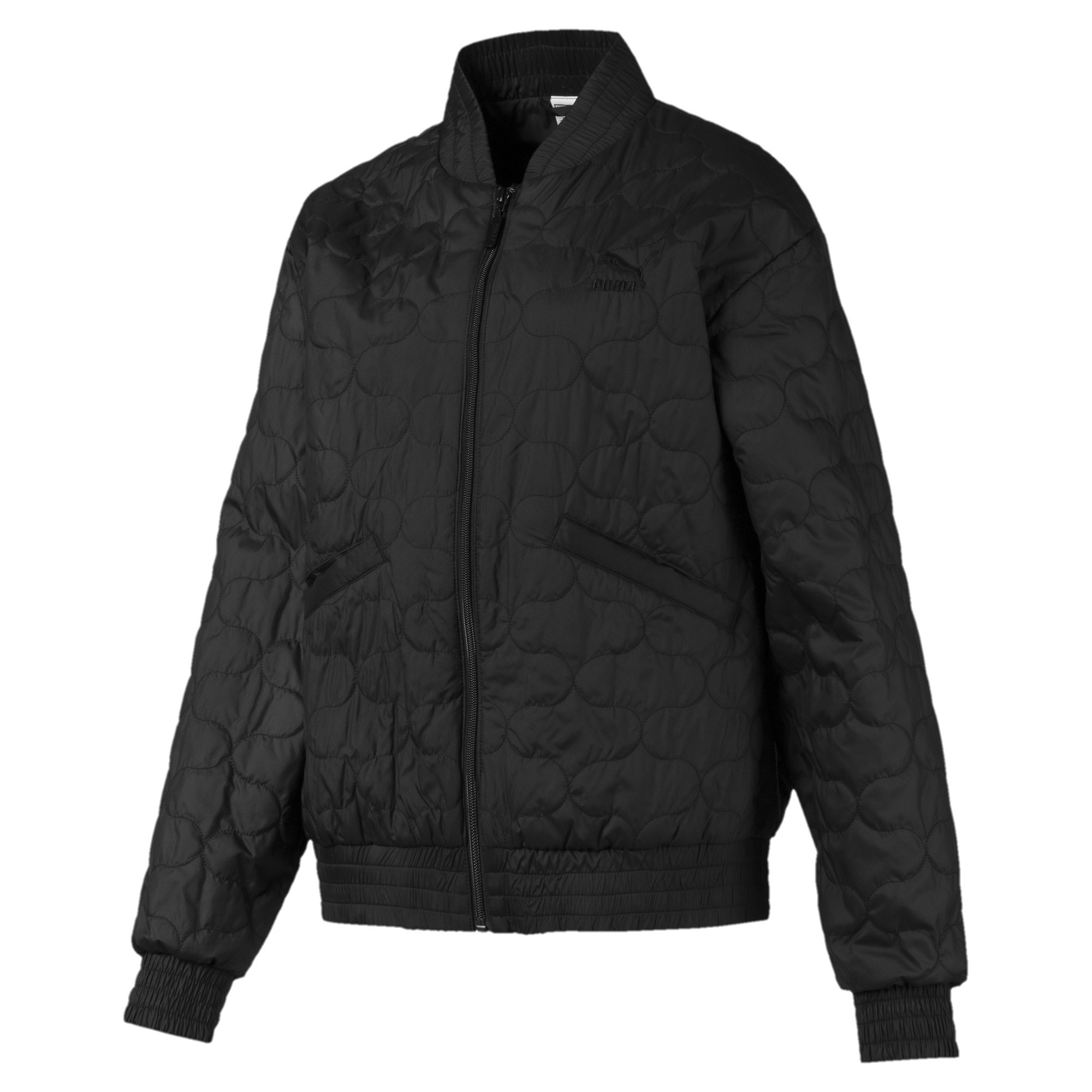Thumbnail 1 of Woven Women's Bomber Jacket, Puma Black, medium