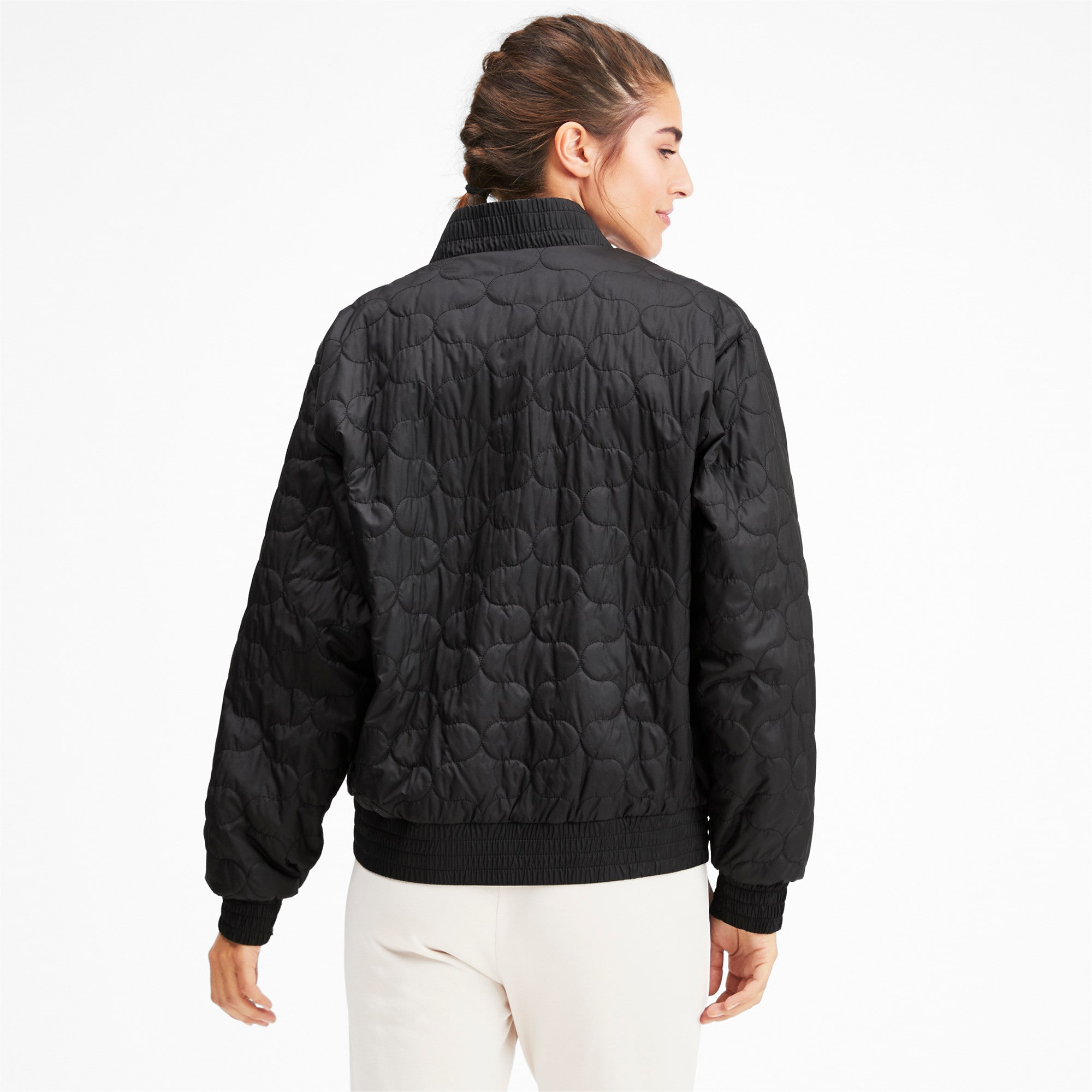 Thumbnail 3 of Woven Women's Bomber Jacket, Puma Black, medium