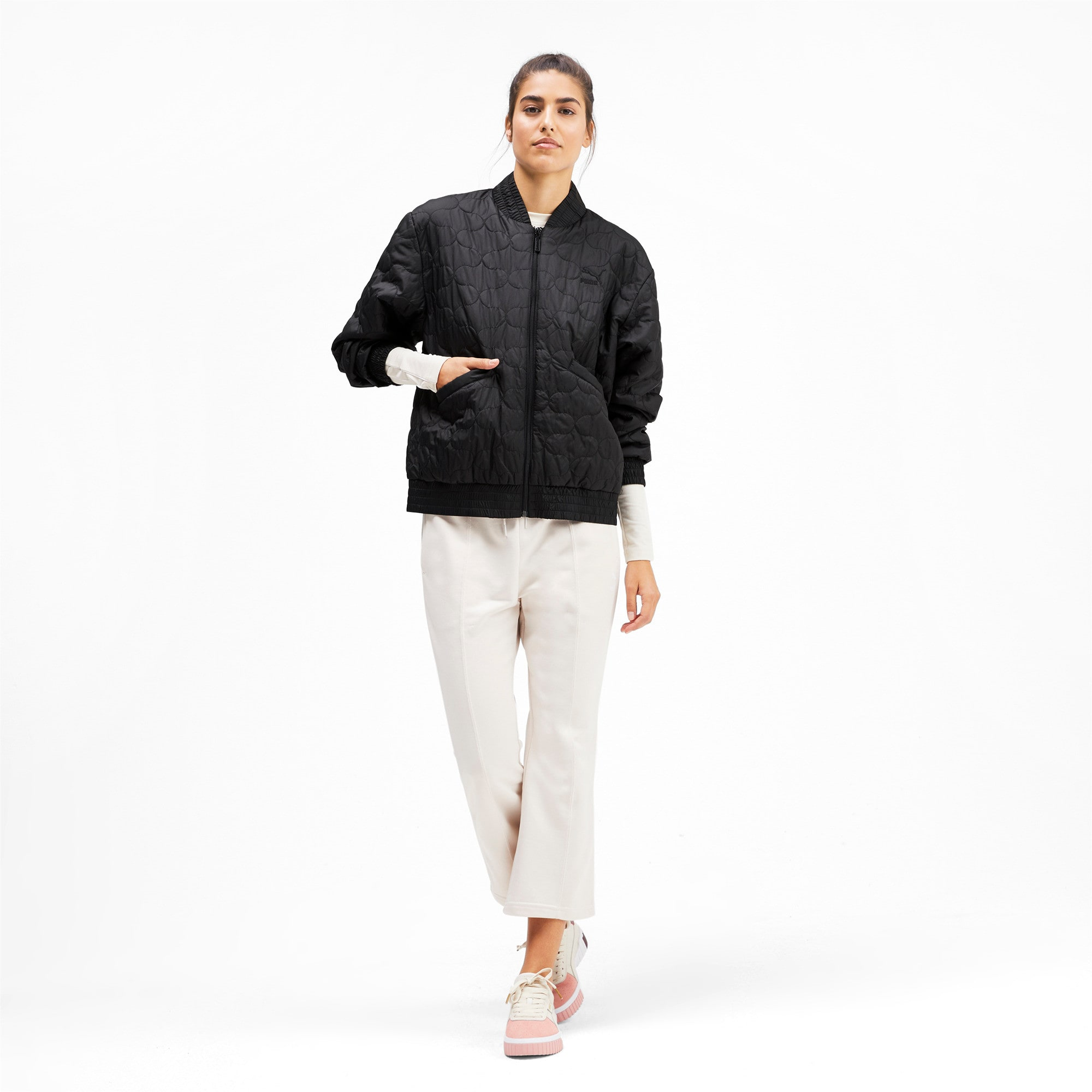 Thumbnail 4 of Woven Women's Bomber Jacket, Puma Black, medium