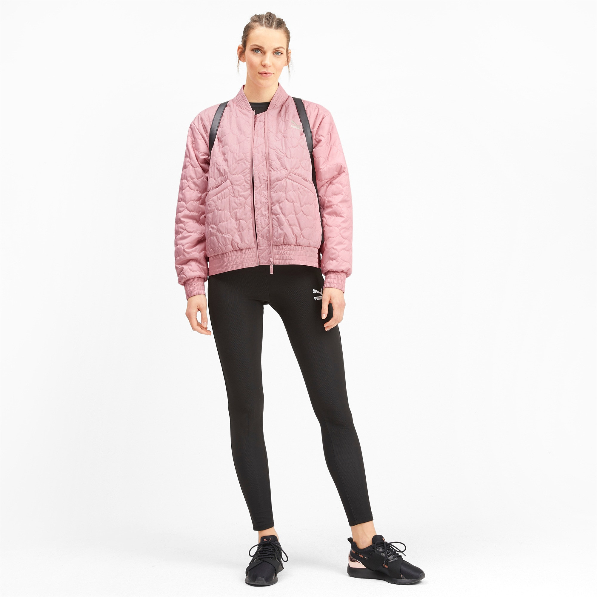 Thumbnail 4 of Woven Women's Bomber Jacket, Bridal Rose, medium