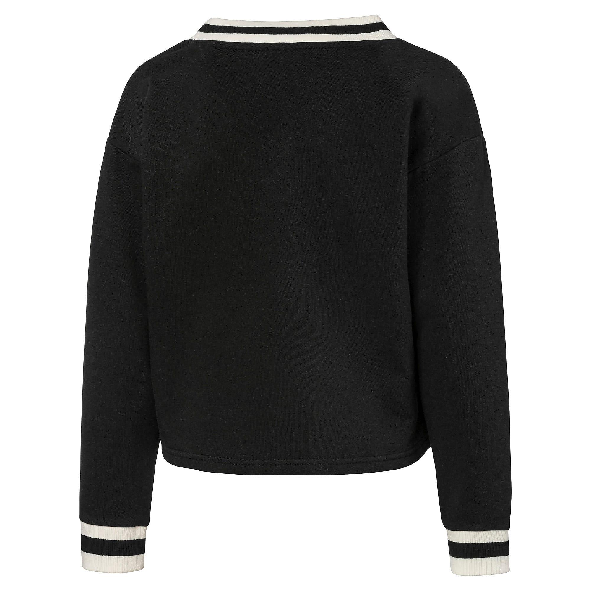 Thumbnail 3 of PUMA x SUE TSAI ウィメンズ Vネック セーター, Puma Black, medium-JPN