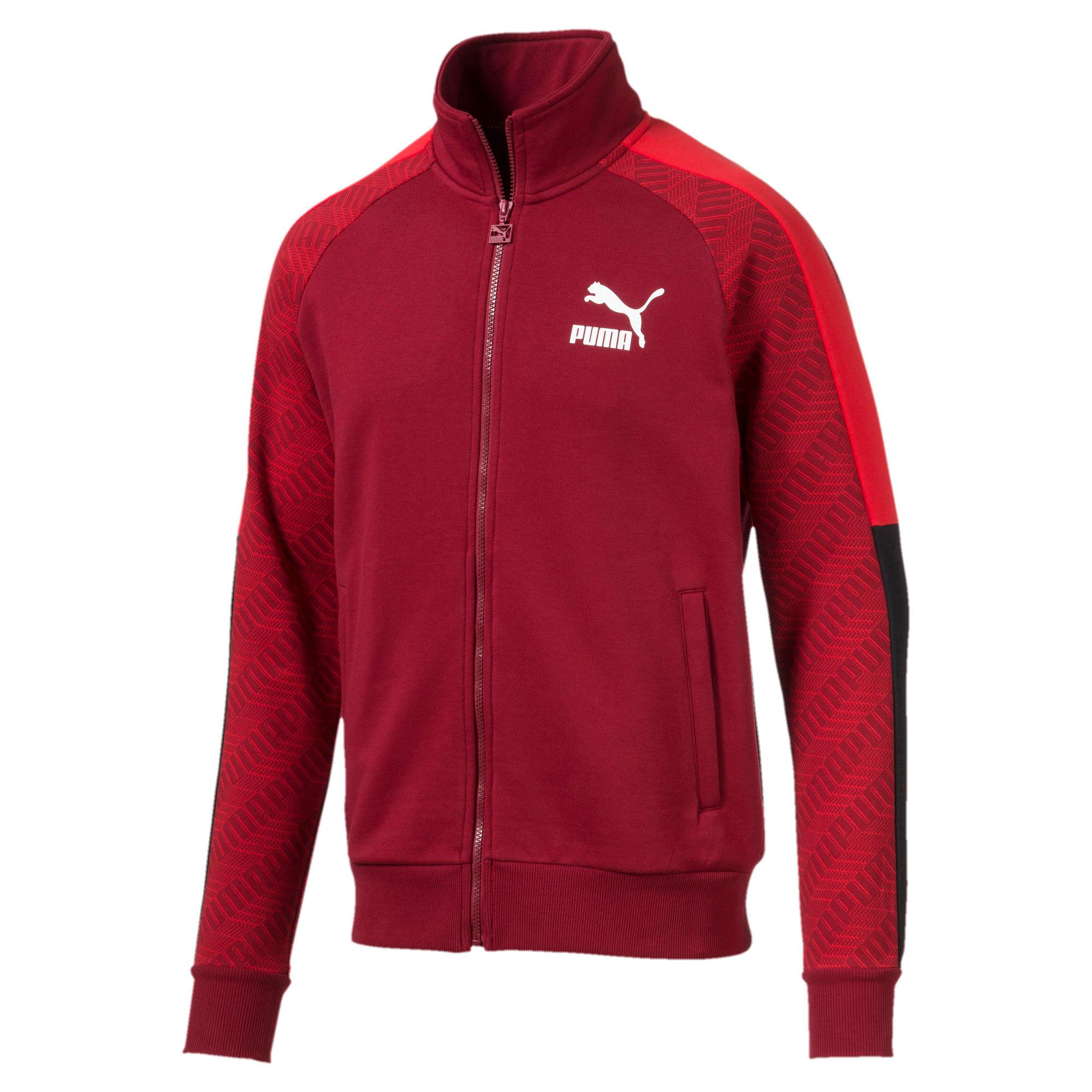 Thumbnail 1 of T7 Men's AOP Track Jacket, Rhubarb-Repeat logo, medium