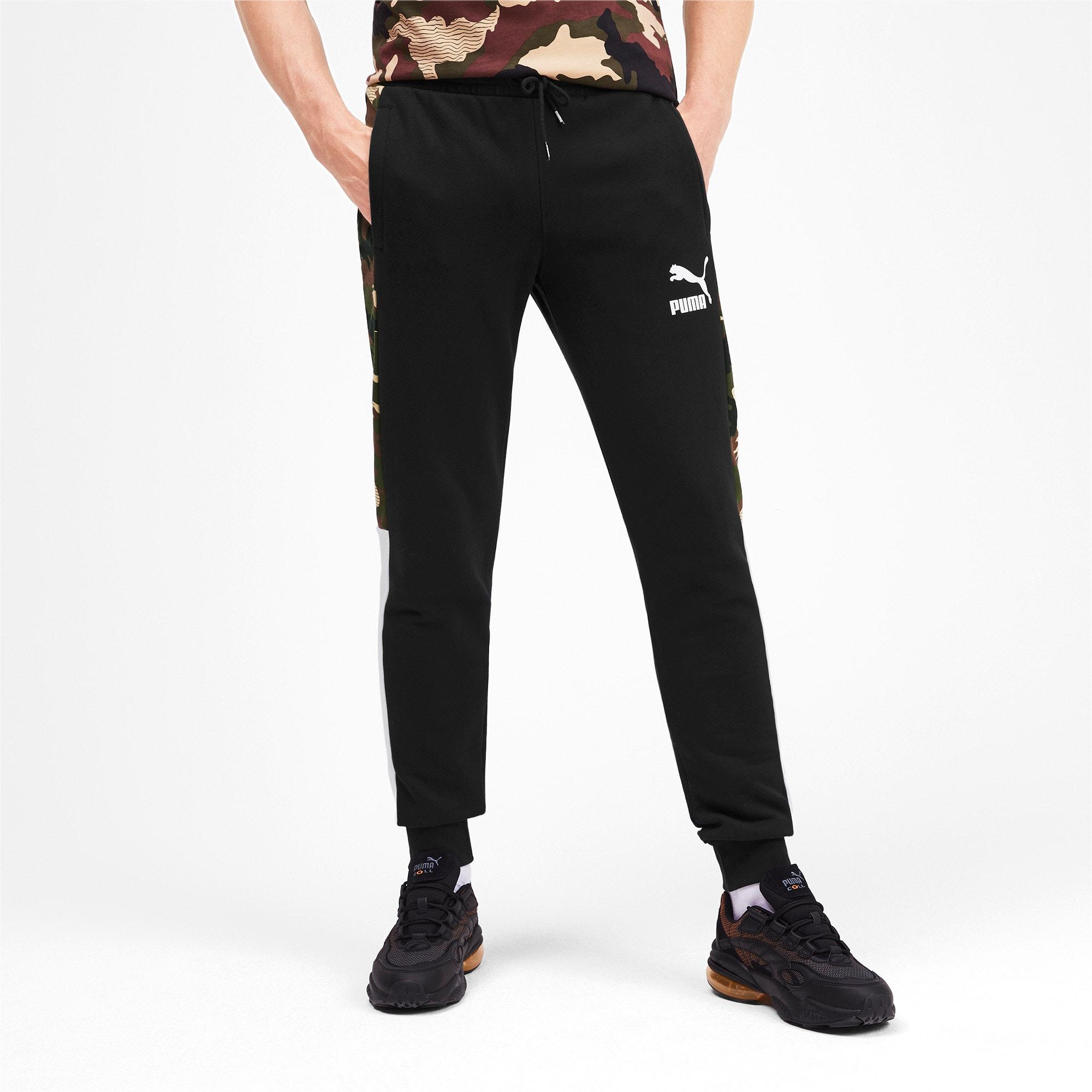 Thumbnail 1 of T7 Men's AOP Track Pants, Puma Black, medium