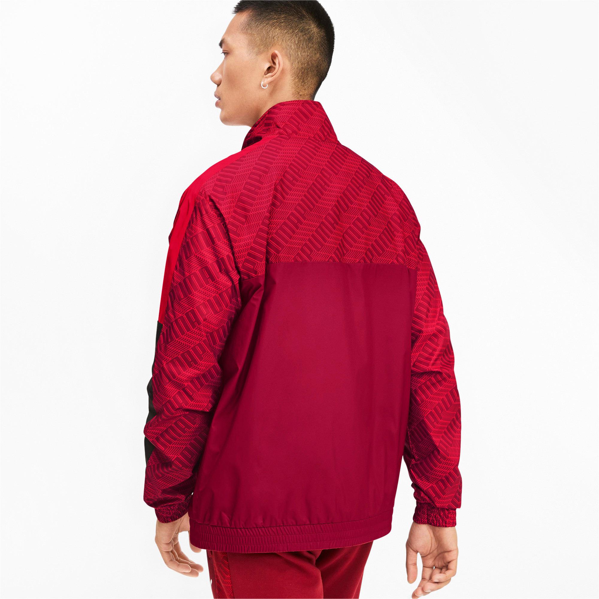 Thumbnail 3 of T7 Men's AOP Track Jacket, Rhubarb-Repeat logo, medium