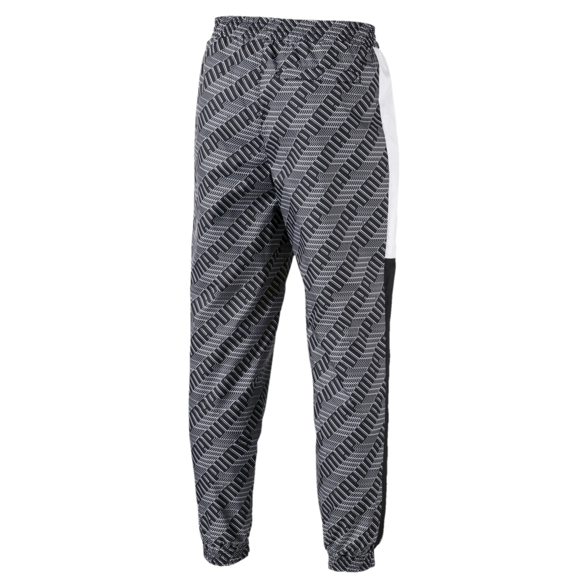 Thumbnail 5 of T7 AOP Panel Men's Track Pants, Puma Black-Repeat logo, medium