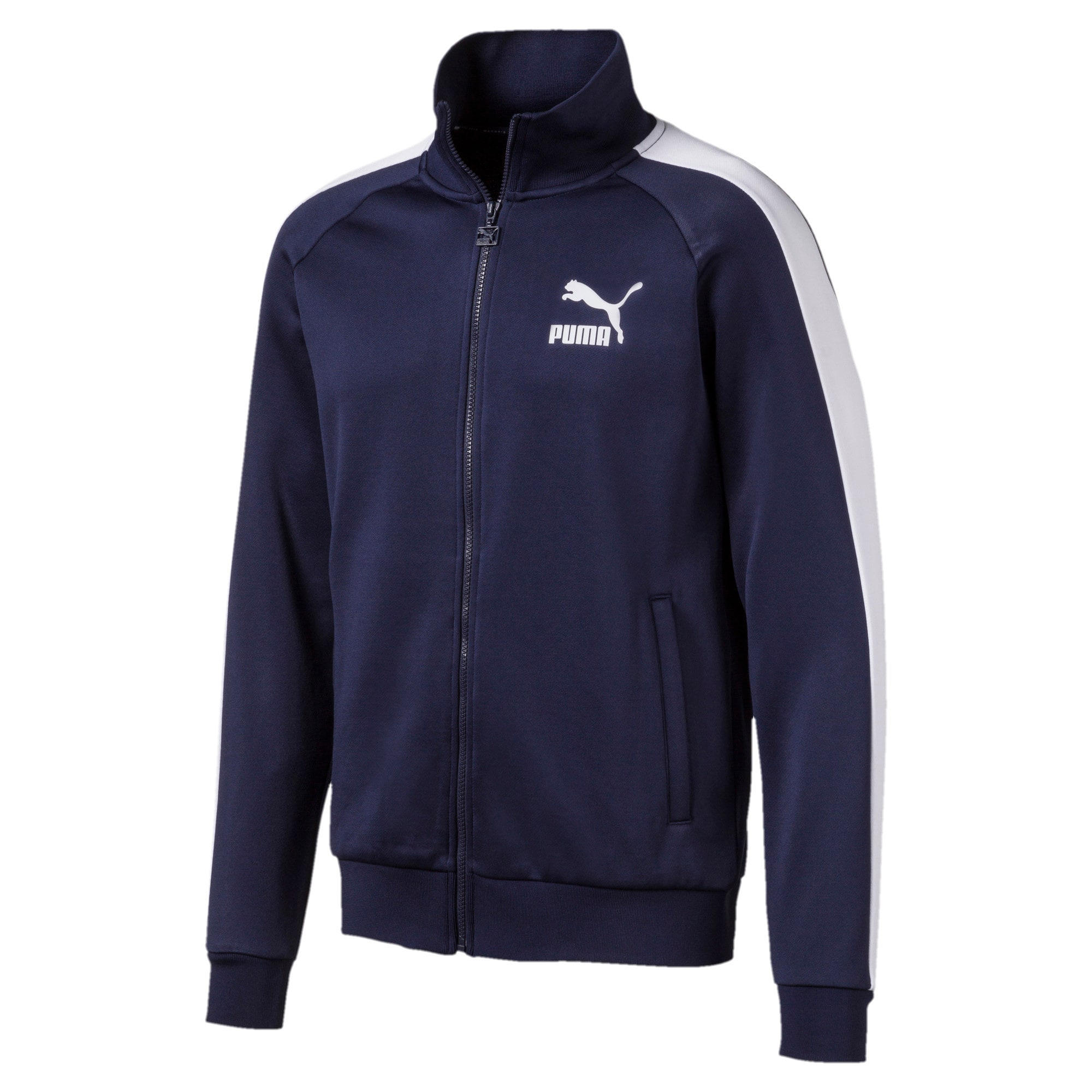Thumbnail 1 of Iconic T7 Men's Track Jacket, Peacoat, medium