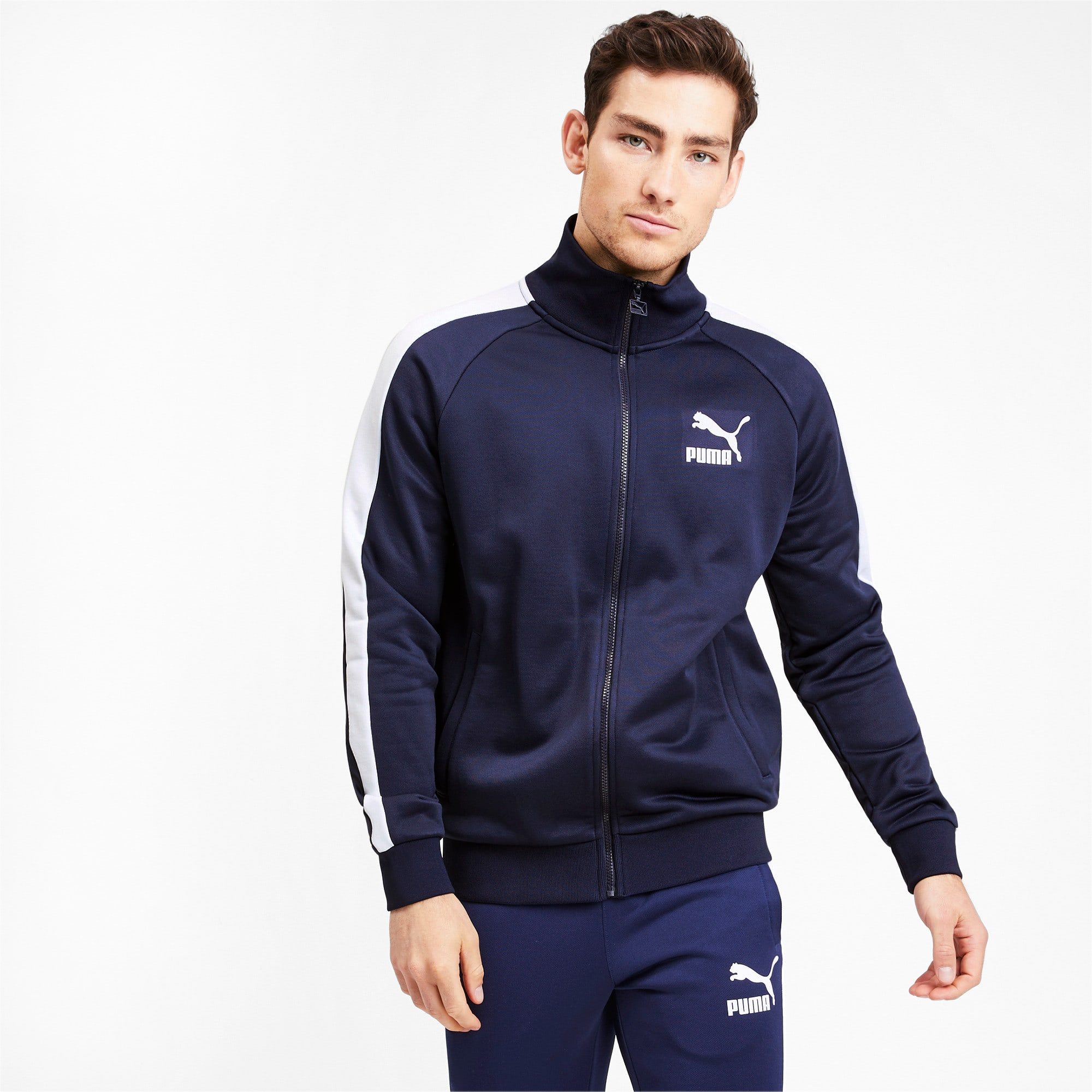 Thumbnail 2 of Iconic T7 Men's Track Jacket, Peacoat, medium