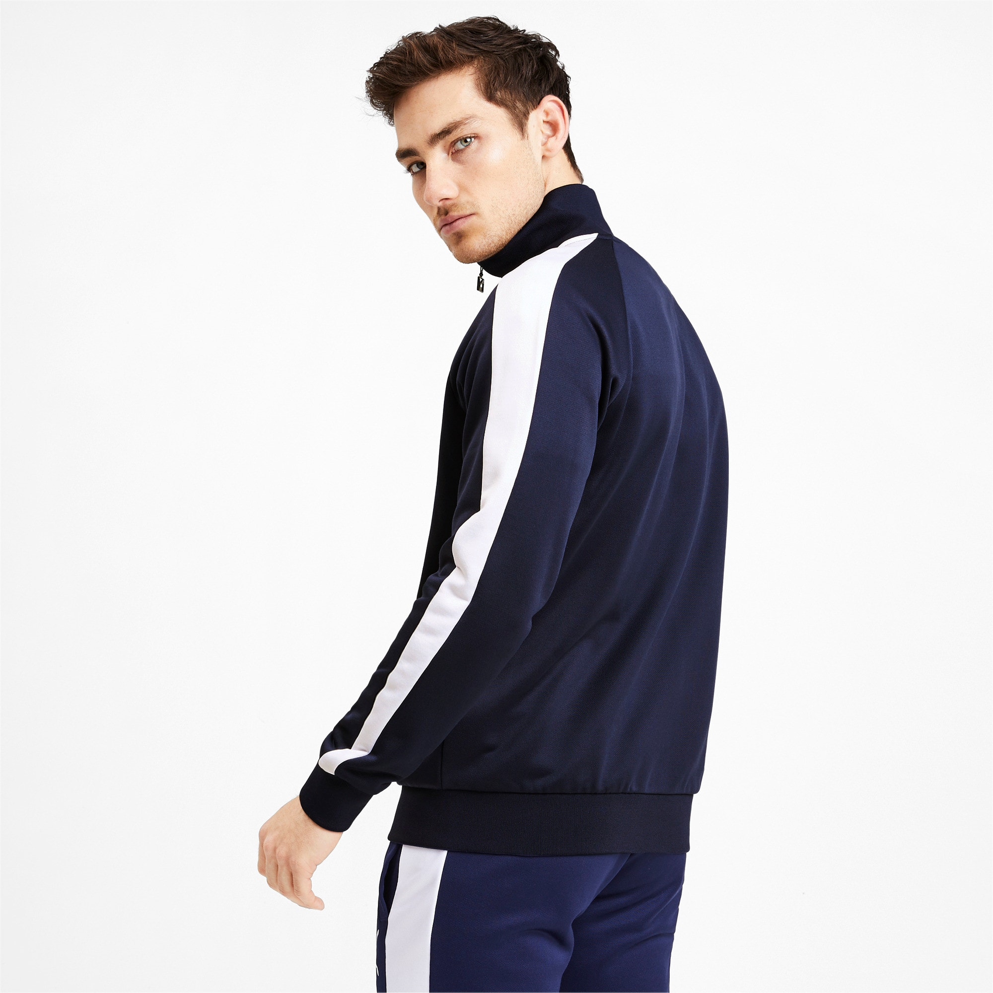 Thumbnail 3 of Iconic T7 Men's Track Jacket, Peacoat, medium
