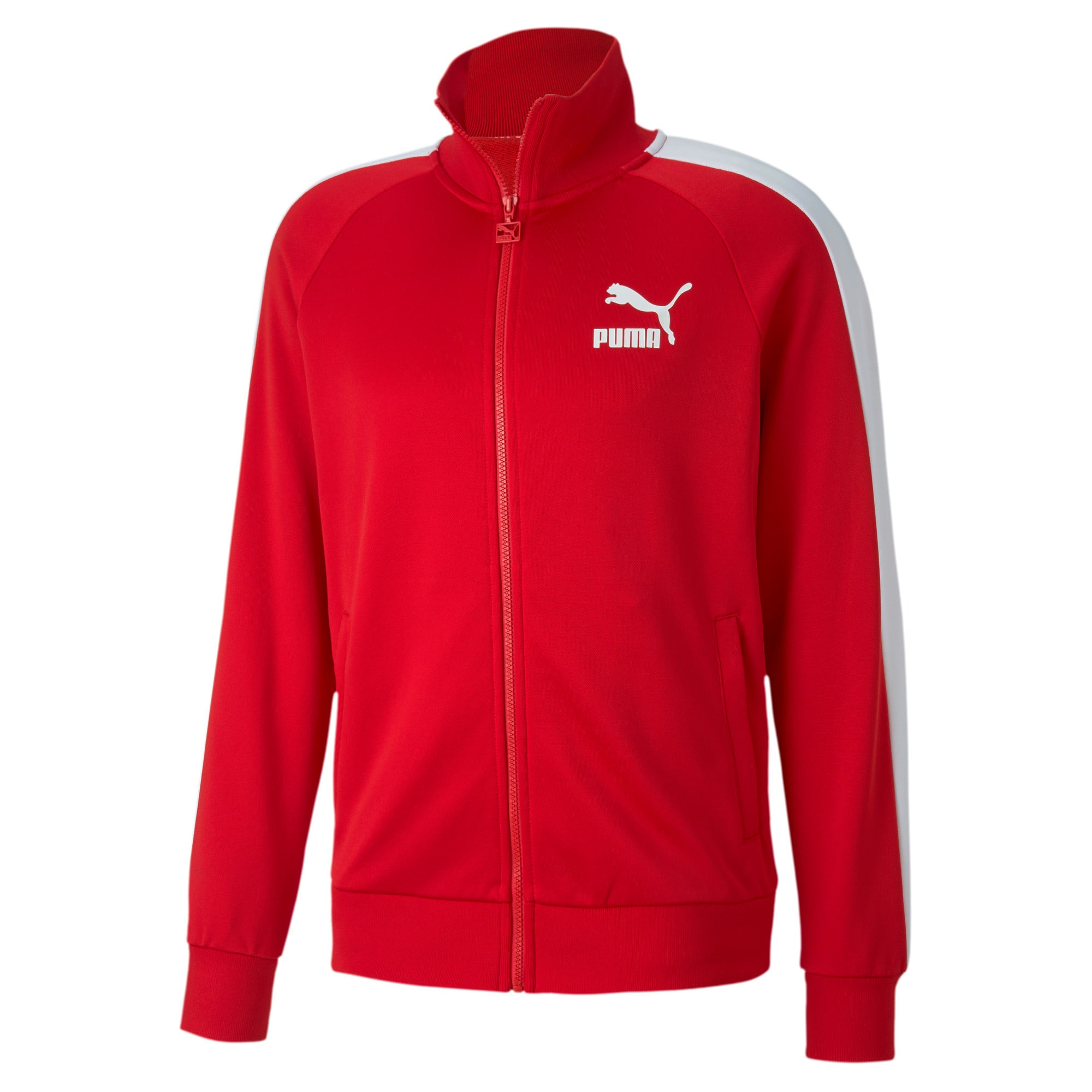 Thumbnail 4 of Iconic T7 Men's Track Jacket, High Risk Red, medium