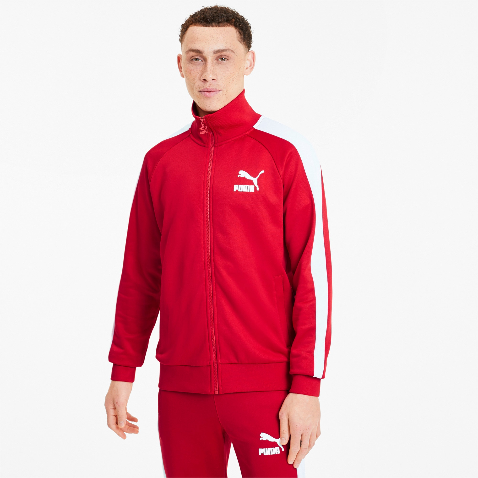 Thumbnail 1 of Iconic T7 Men's Track Jacket, High Risk Red, medium