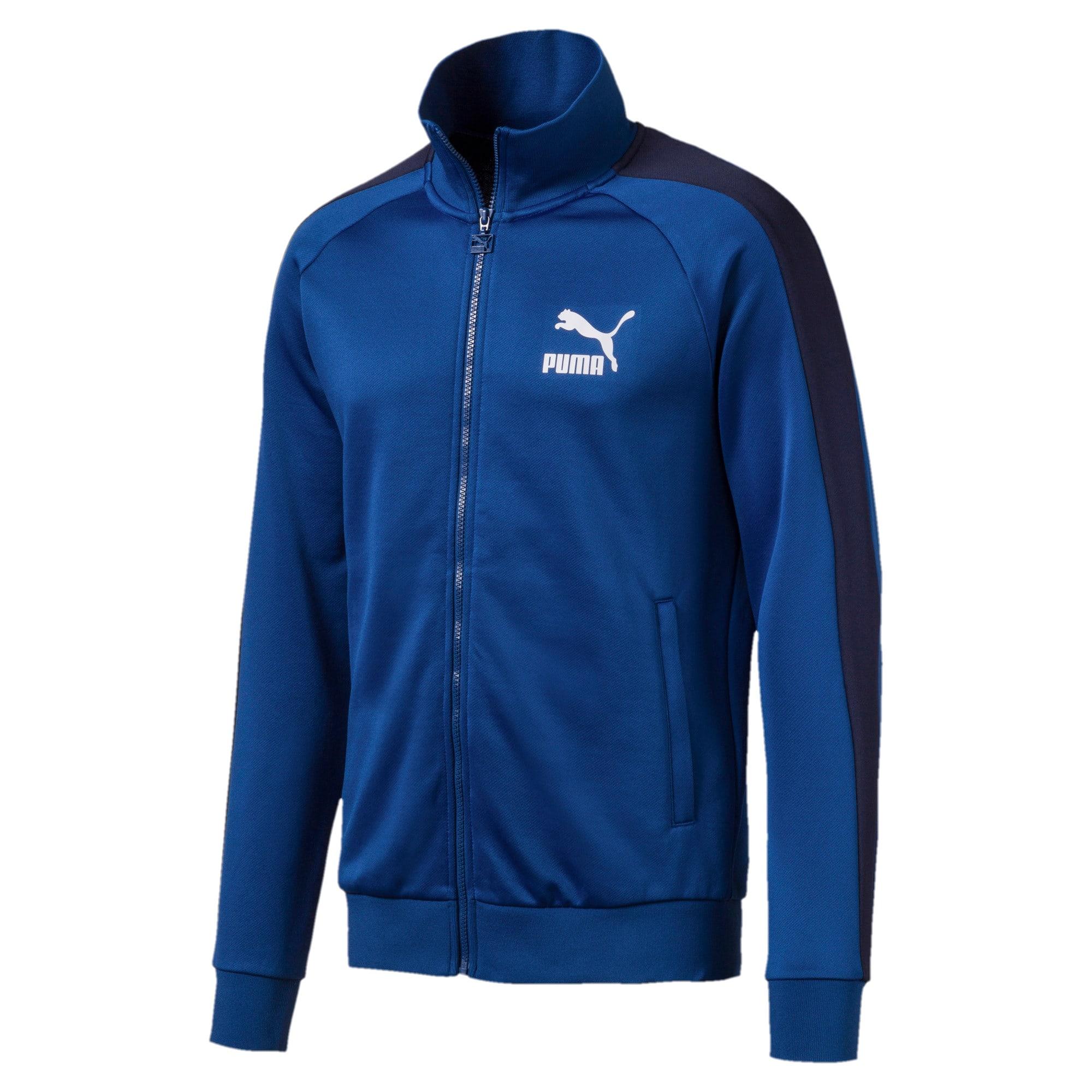 Thumbnail 1 of Iconic T7 Men's Track Jacket, Galaxy Blue, medium
