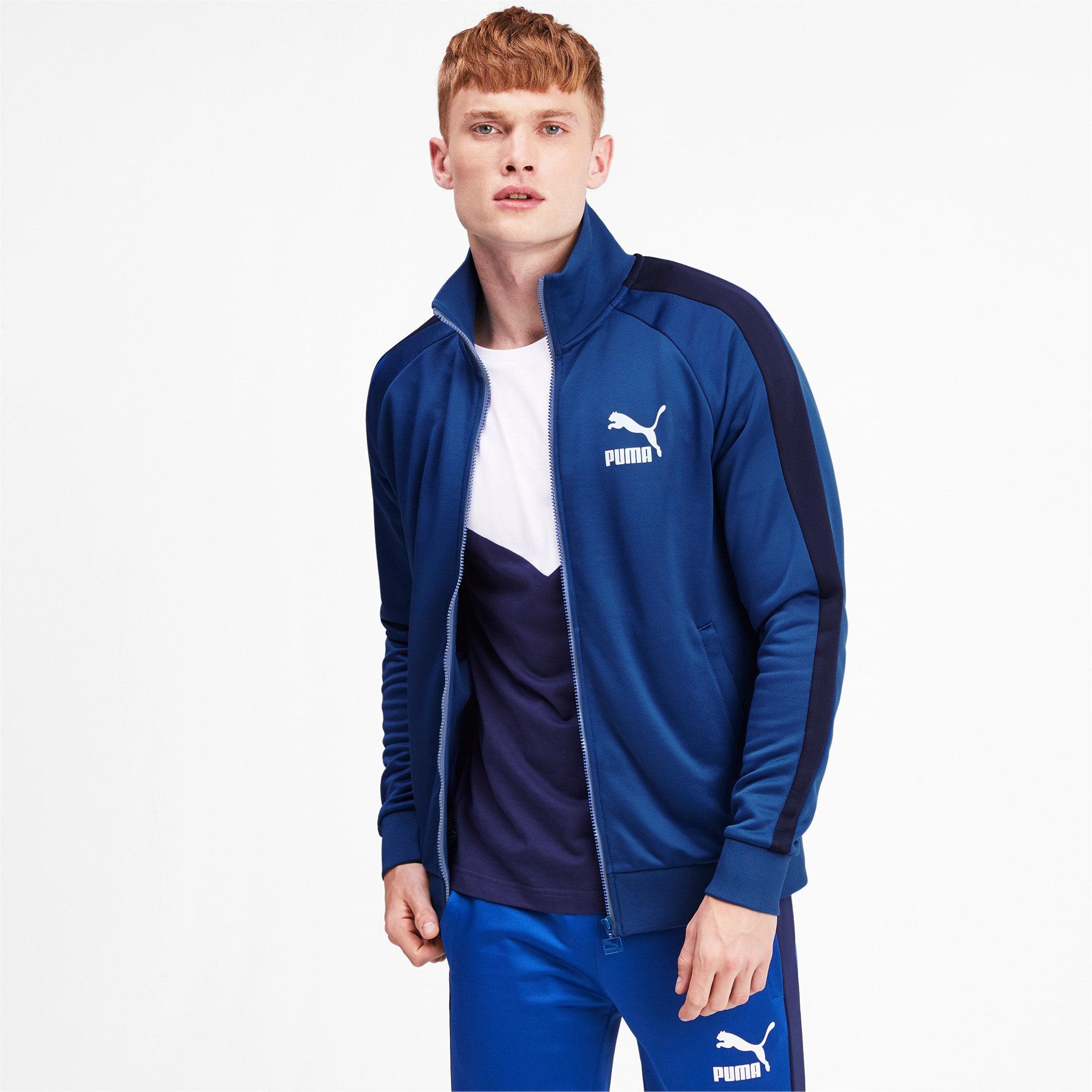 Thumbnail 2 of Iconic T7 Men's Track Jacket, Galaxy Blue, medium