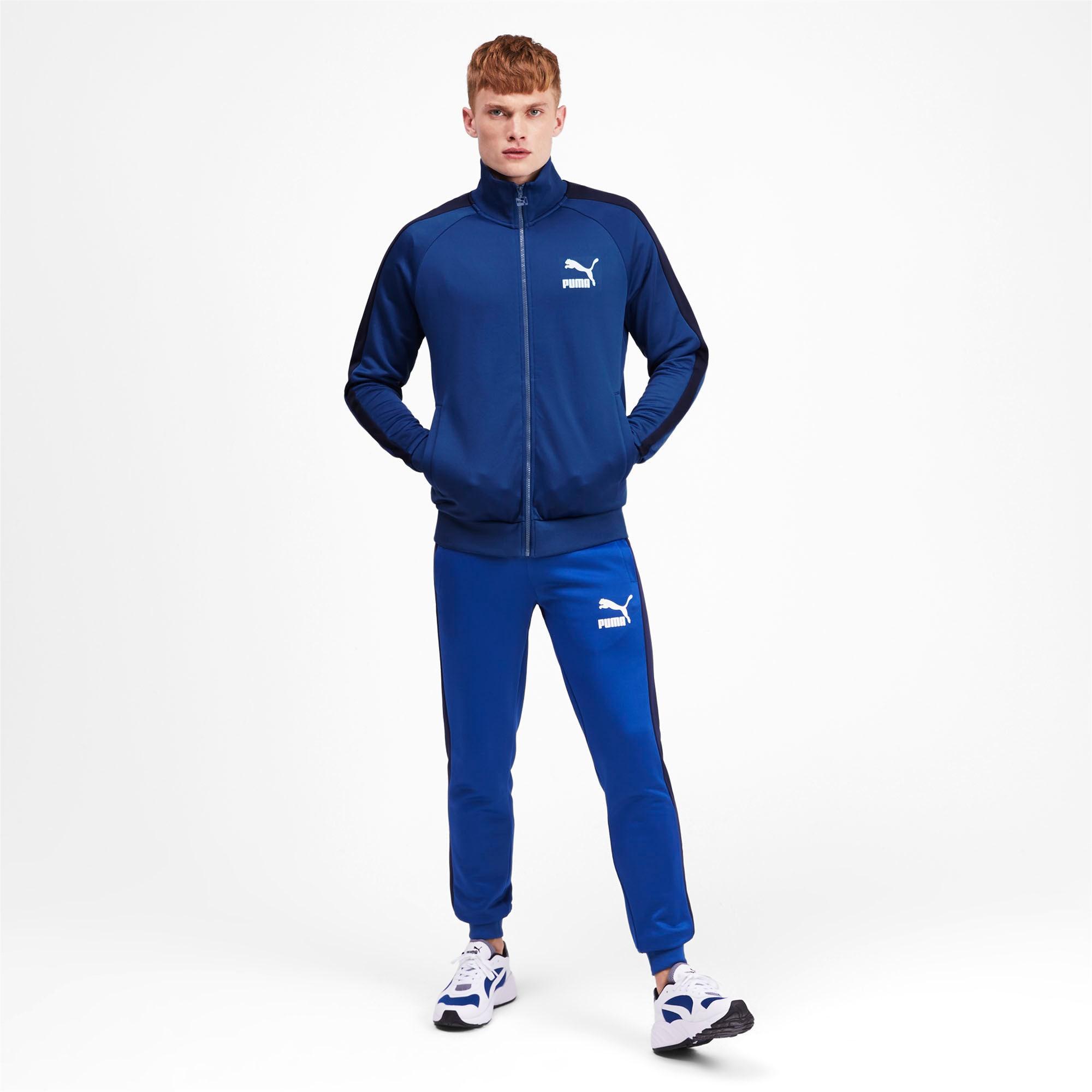 Thumbnail 4 of Iconic T7 Men's Track Jacket, Galaxy Blue, medium