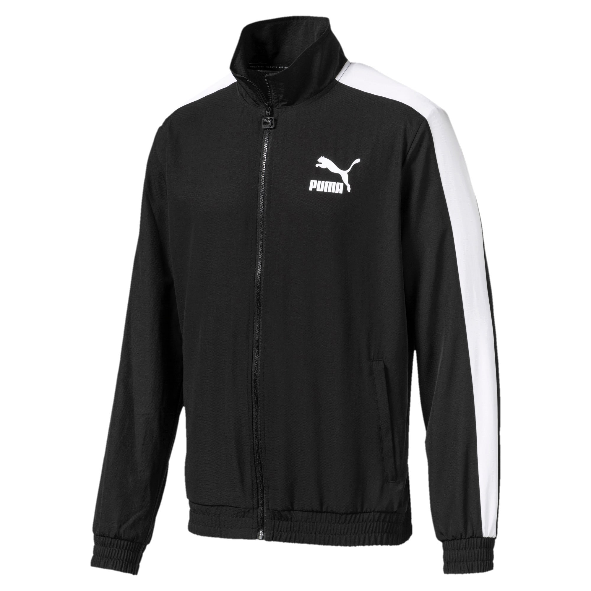 Thumbnail 1 of Iconic T7 Men's Woven Track Jacket, Puma Black, medium