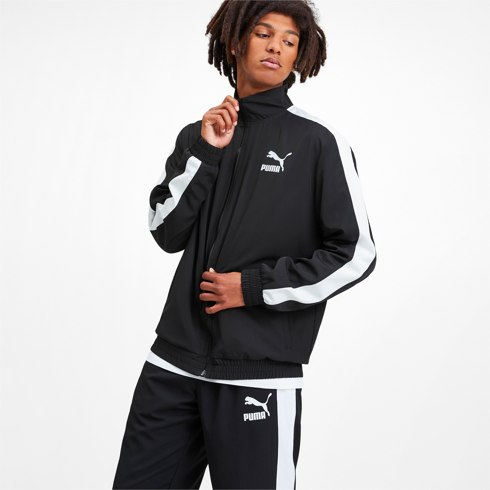 Thumbnail 2 of Iconic T7 Men's Woven Track Jacket, Puma Black, medium