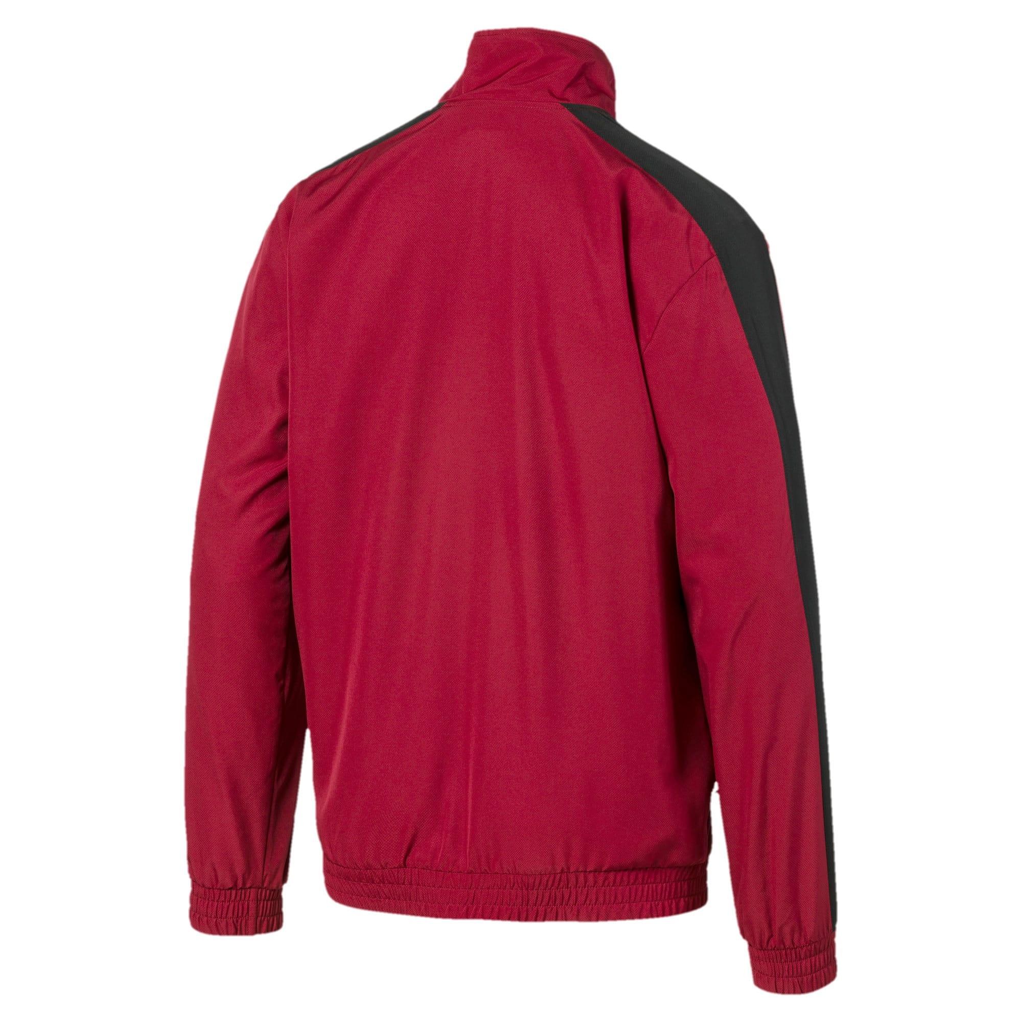 Thumbnail 5 of Iconic T7 Men's Woven Track Jacket, Rhubarb, medium