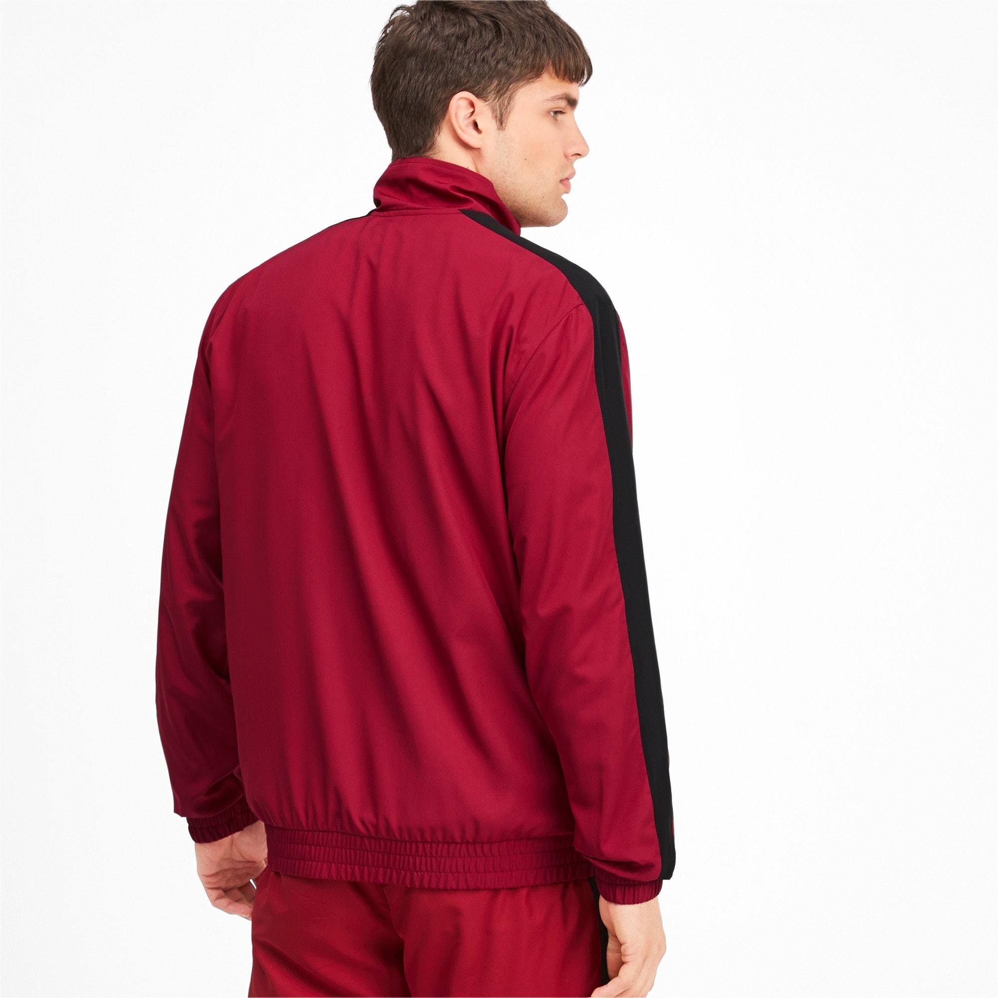 Thumbnail 2 of Iconic T7 Men's Woven Track Jacket, Rhubarb, medium