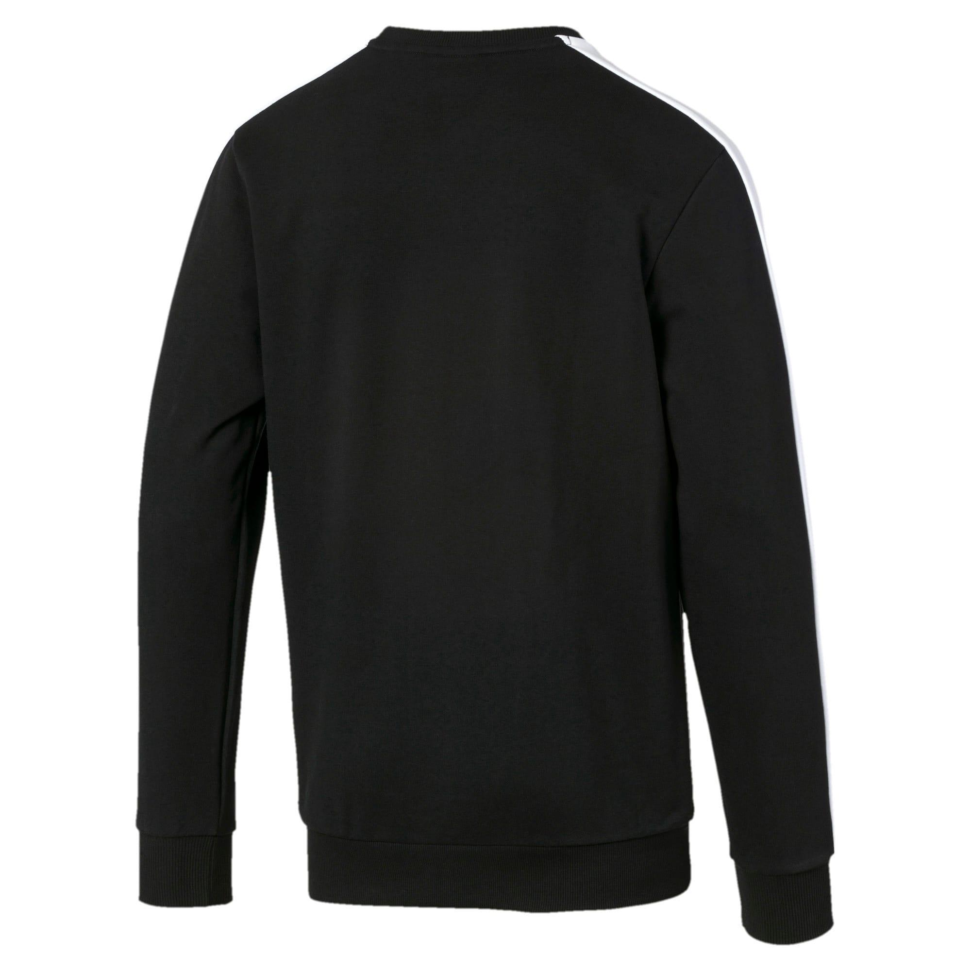 Thumbnail 5 of Iconic T7 Crew Neck Men's Sweater, Puma Black, medium