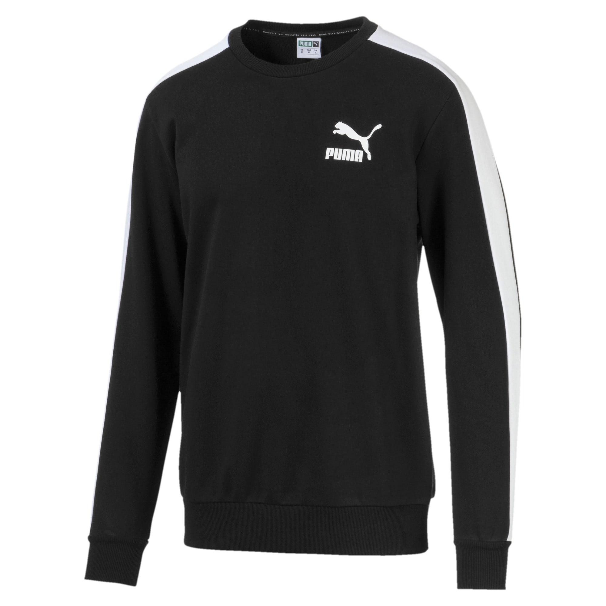 Thumbnail 4 of Iconic T7 Crew Neck Men's Sweater, Puma Black, medium