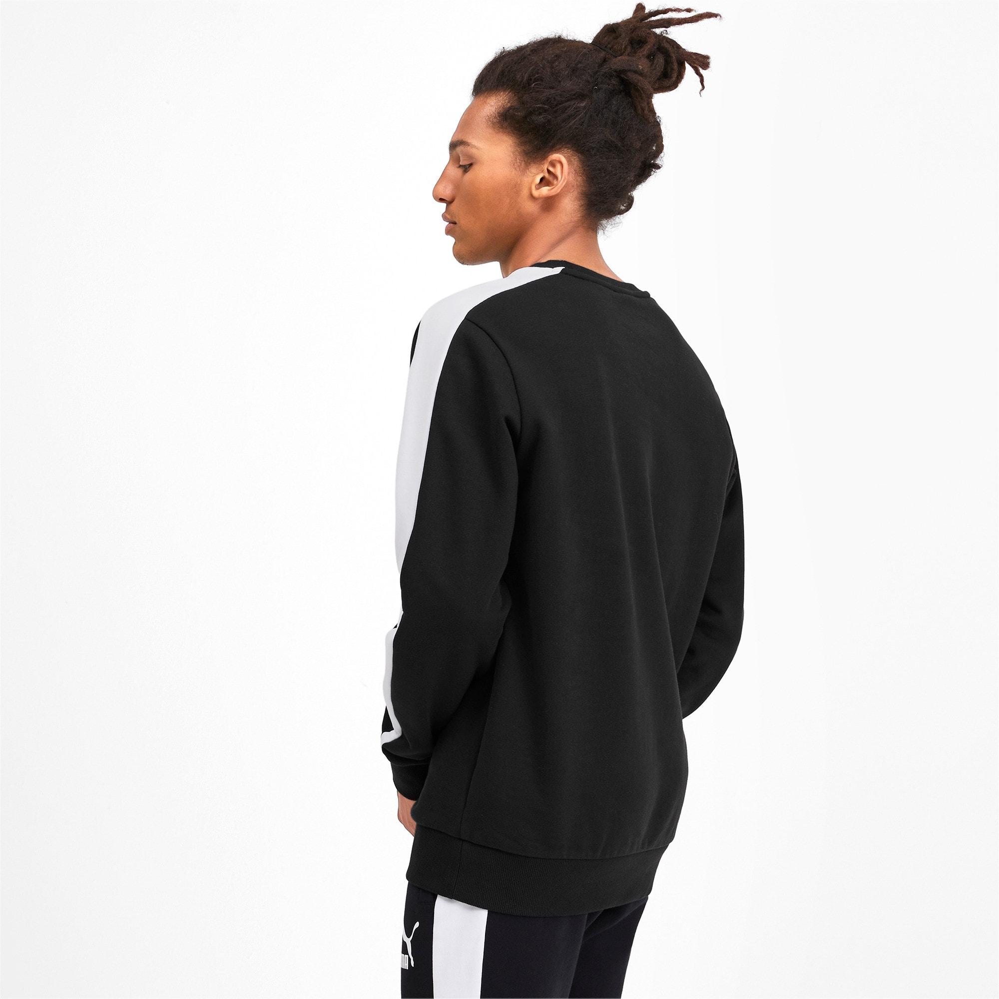 Thumbnail 2 of Iconic T7 Crew Neck Men's Sweater, Puma Black, medium