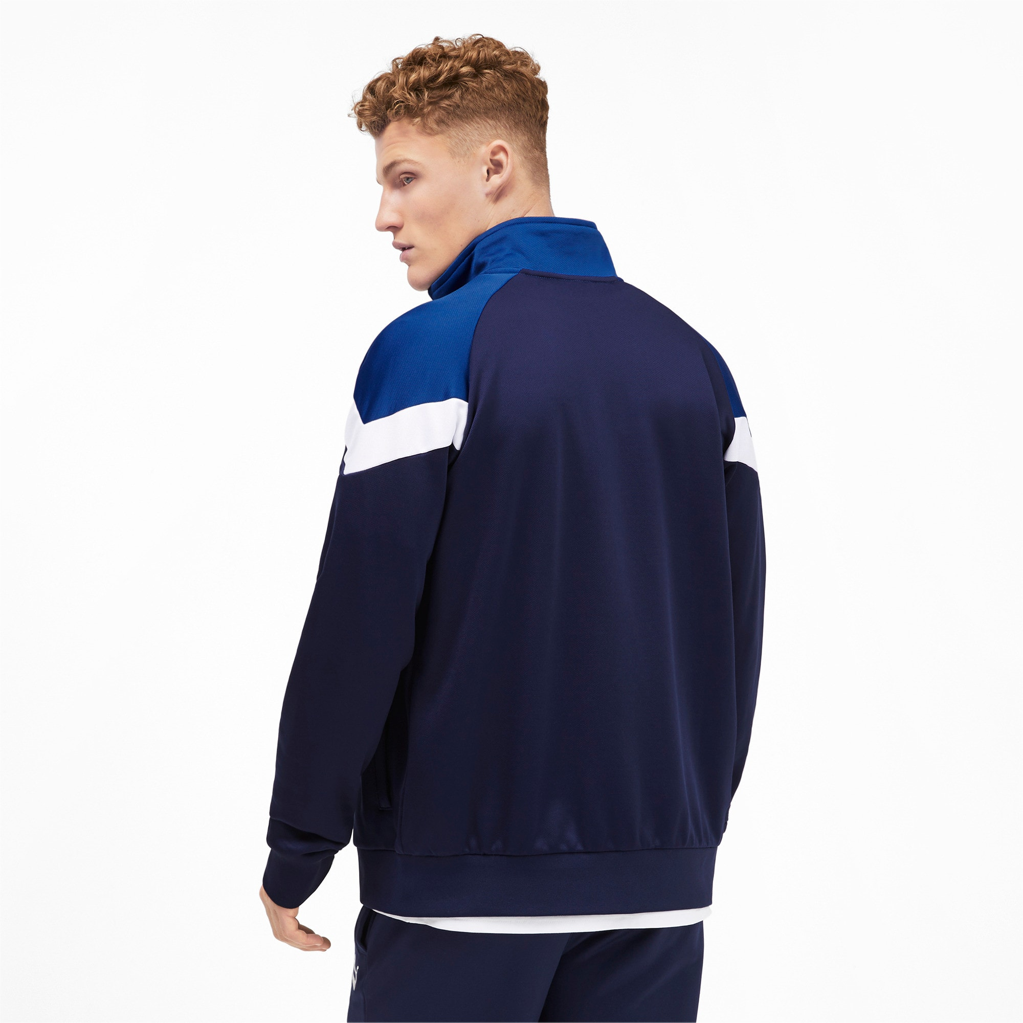 Thumbnail 3 of Iconic MCS Men's Track Jacket, Peacoat, medium