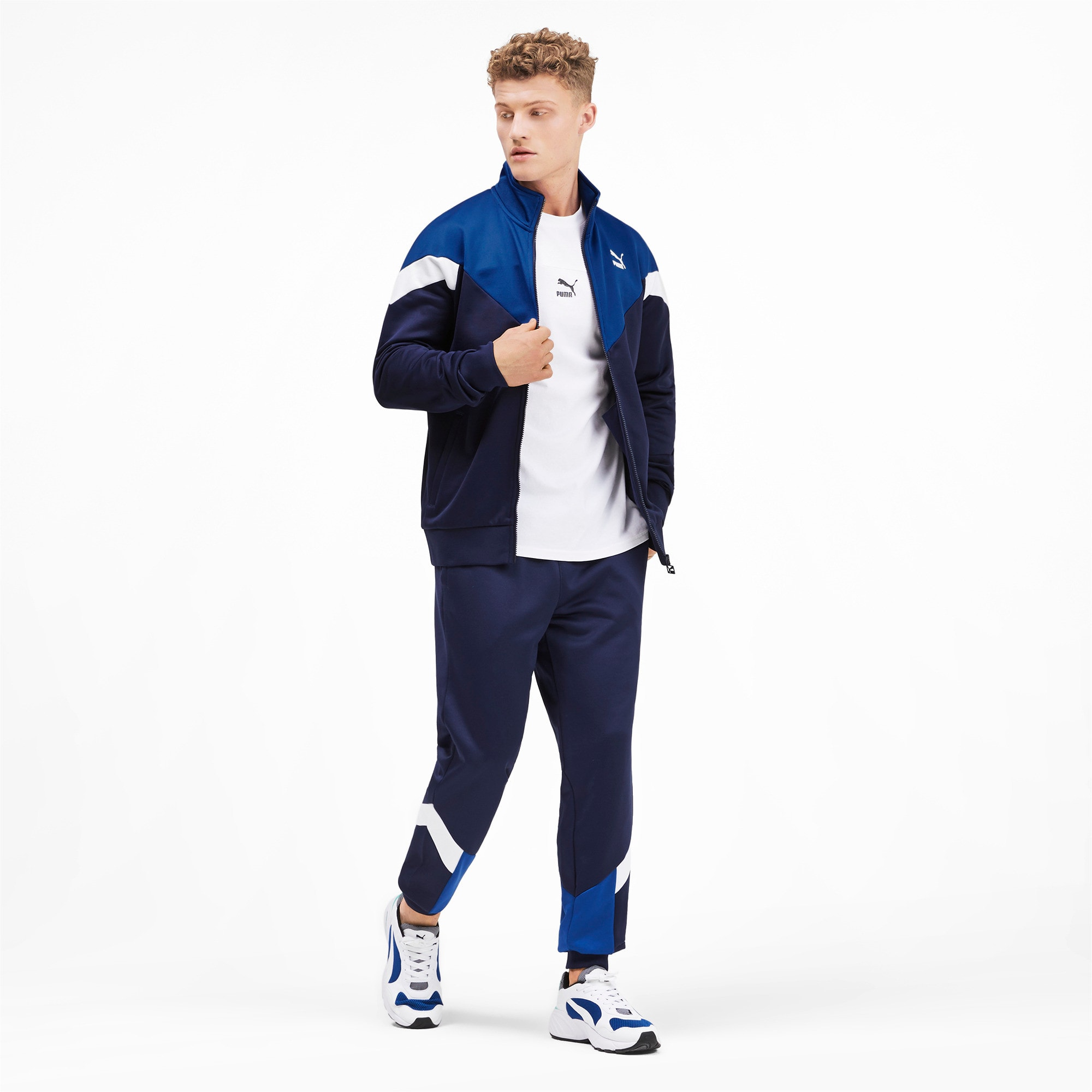 Thumbnail 4 of Iconic MCS Men's Track Jacket, Peacoat, medium