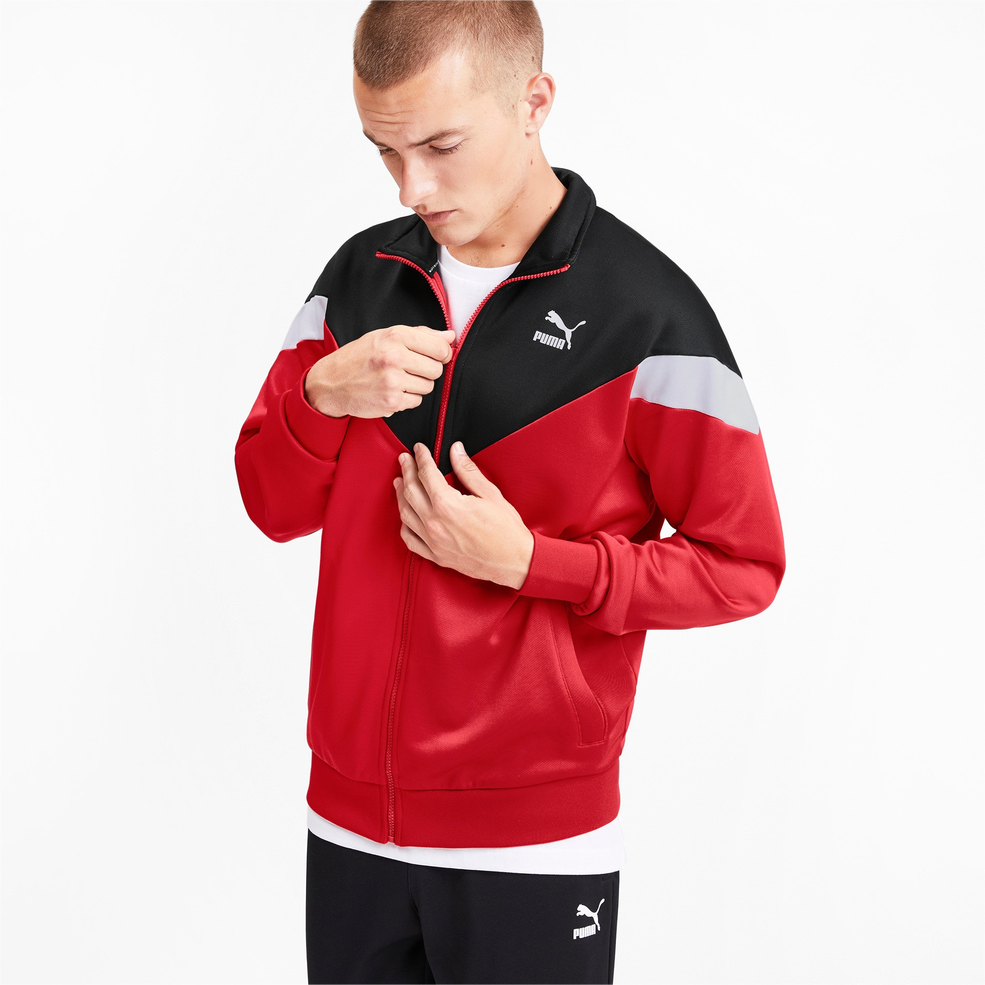 Thumbnail 1 of Iconic MCS Men's Track Jacket, High Risk Red, medium