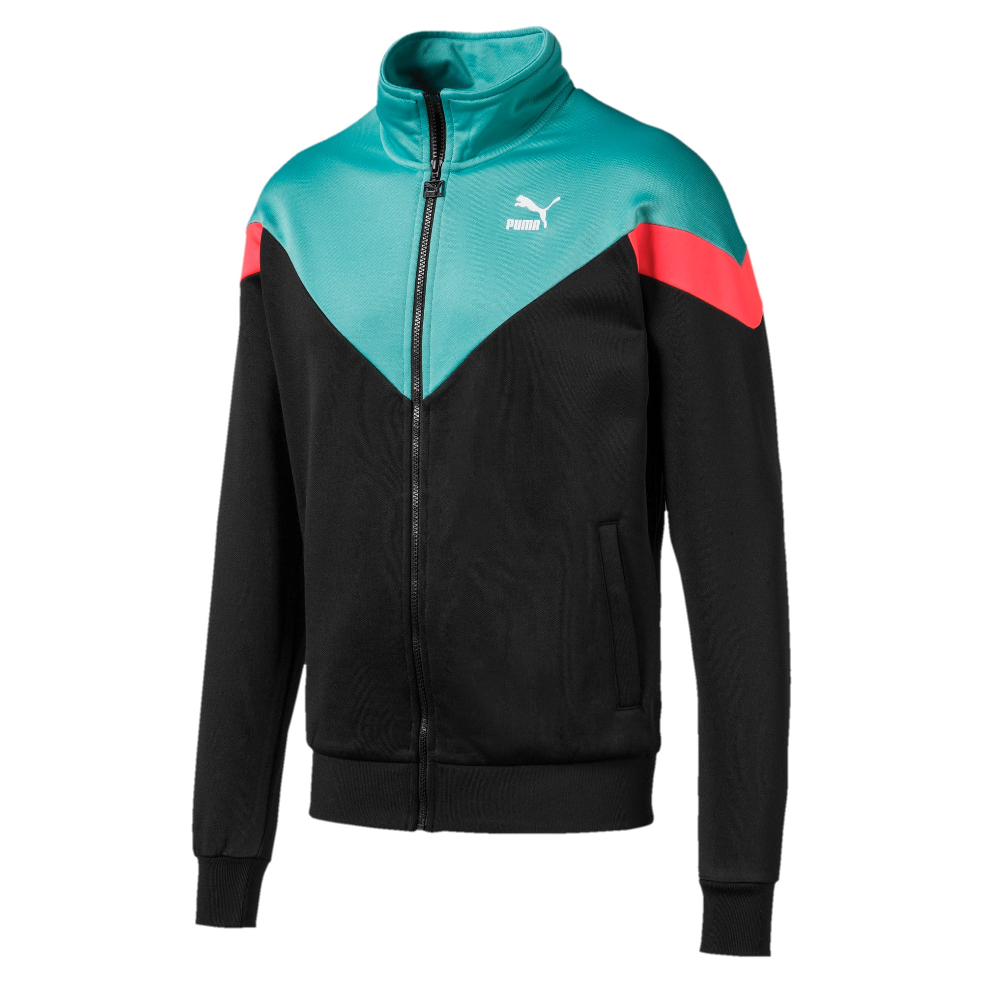 Thumbnail 1 of Iconic MCS Men's Track Jacket, Puma Black, medium