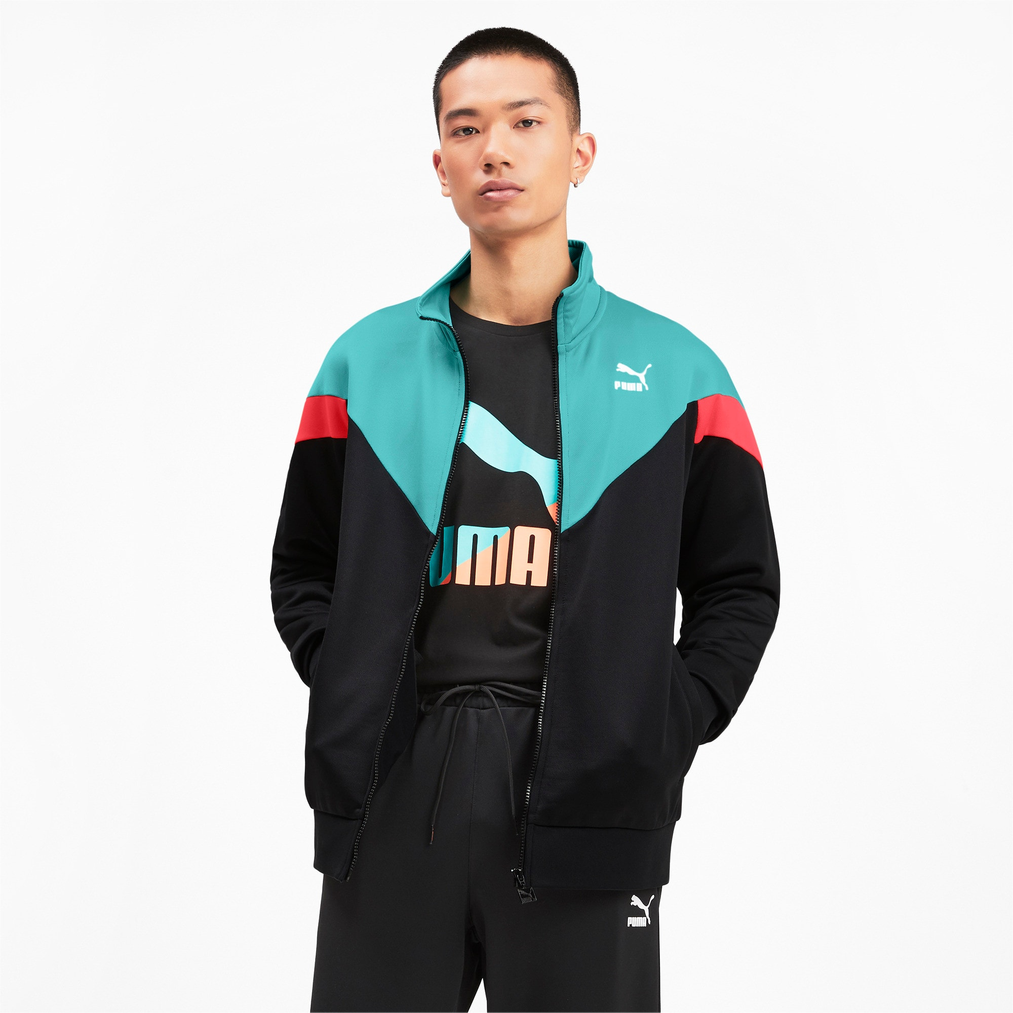 Thumbnail 2 of Iconic MCS Men's Track Jacket, Puma Black, medium