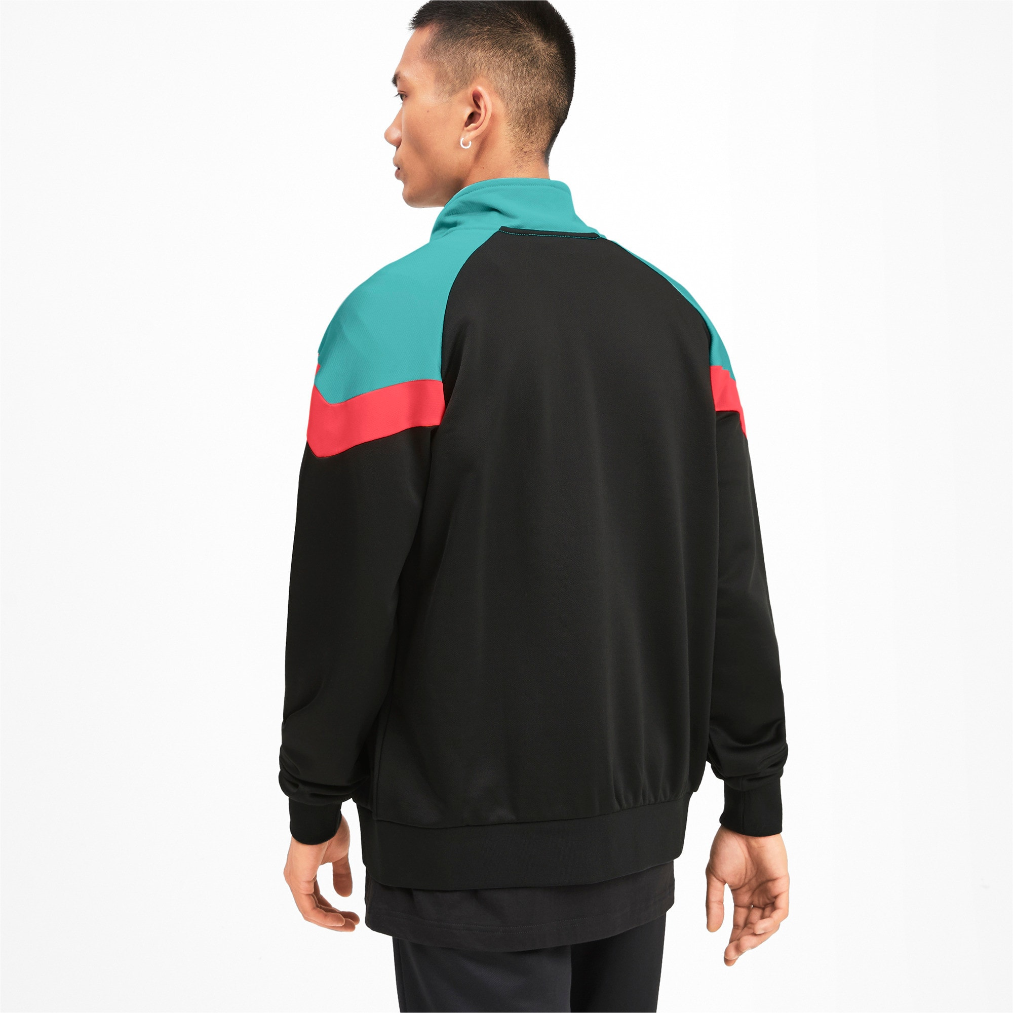 Thumbnail 3 of Iconic MCS Men's Track Jacket, Puma Black, medium