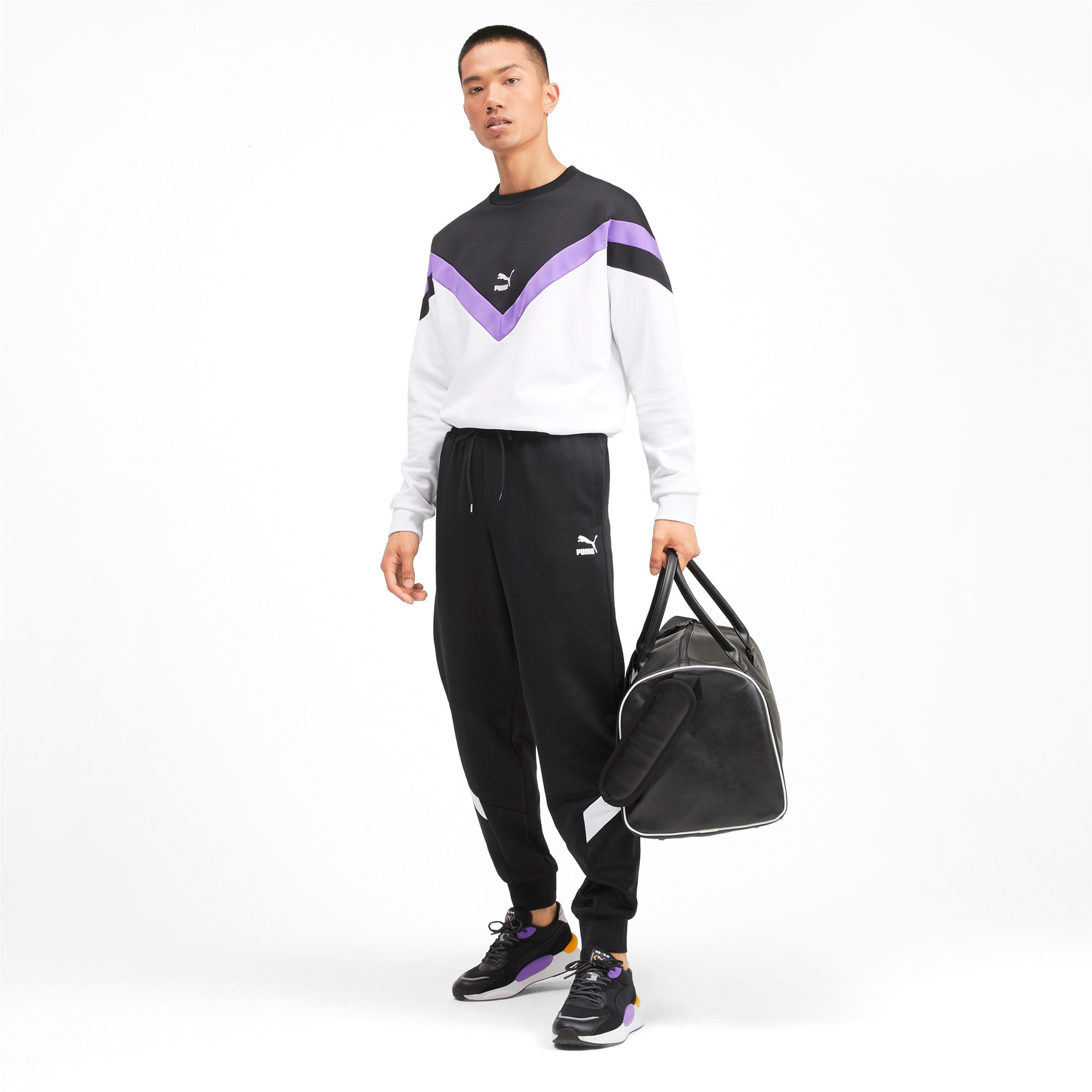Thumbnail 3 of Iconic MCS Knitted Men's Track Pants, Puma Black, medium