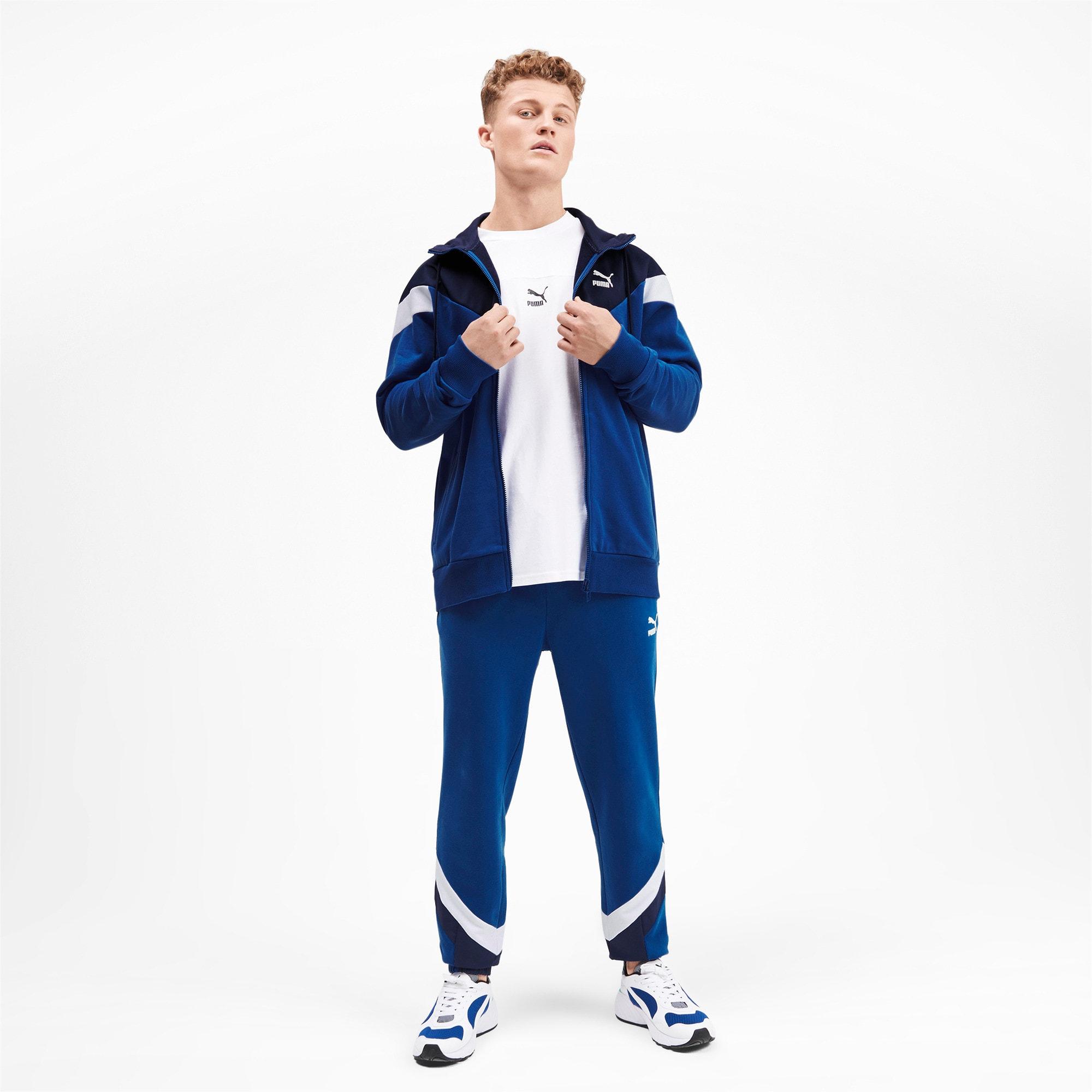 Thumbnail 4 of Iconic MCS Men's Full Zip Hoodie, Galaxy Blue, medium