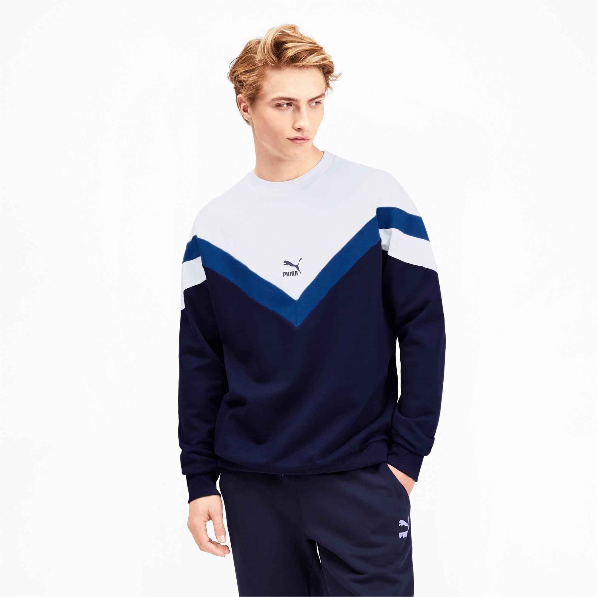 Thumbnail 2 of Iconic MCS Crew Men's Sweater, Peacoat, medium