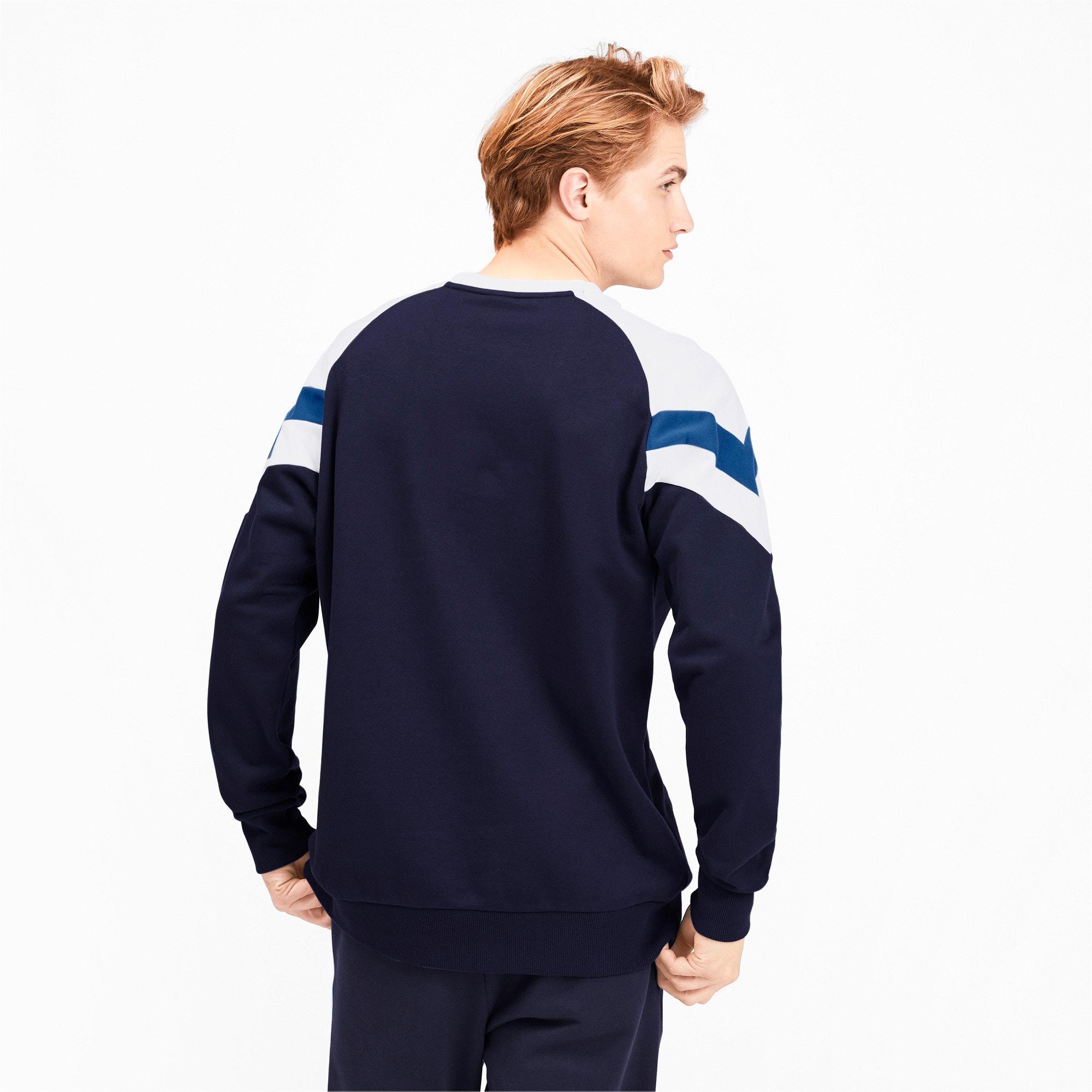 Thumbnail 3 of Iconic MCS Crew Men's Sweater, Peacoat, medium