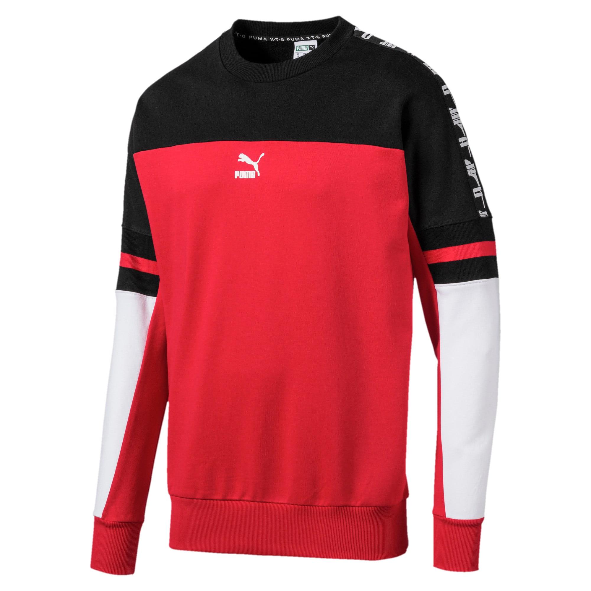 Thumbnail 4 of PUMA XTG Men's Crewneck Sweatshirt, High Risk Red, medium
